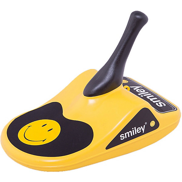 Санки Smartbob Smiley, желтыеСанки и аксессуары<br>Характеристики:<br><br>• Предназначение: для катания с горок<br>• Пол: универсальный<br>• Цвет: черный, желтый<br>• Материал: пластик<br>• Количество посадочных мест: 1<br>• Вес: 1 кг 500 гр<br>• Размеры: 53*38*32 см<br>• Максимально допустимая нагрузка: 100 кг<br><br>Санки Smartbob Smiley, желтые  – эти уникальные санки предназначены для детского карвинга. Они выполнены из пластика, с мягким сидением и ручкой-джойстиком для управления санями. Санки Smartbob Smiley имеют легкий вес и яркий стильный дизайн. Катание на таких нетрадиционных санках позволяет легко маневрировать на поворотах и неровных поверхностях.<br><br>Санки Smartbob Smiley, желтые можно купить в нашем интернет-магазине.<br><br>Подробнее:<br>Для детей в возрасте: от 5 лет <br>Номер товара: 3922080<br>Страна производитель: Китай<br><br>Ширина мм: 530<br>Глубина мм: 380<br>Высота мм: 320<br>Вес г: 1500<br>Возраст от месяцев: 60<br>Возраст до месяцев: 2147483647<br>Пол: Унисекс<br>Возраст: Детский<br>SKU: 3922080