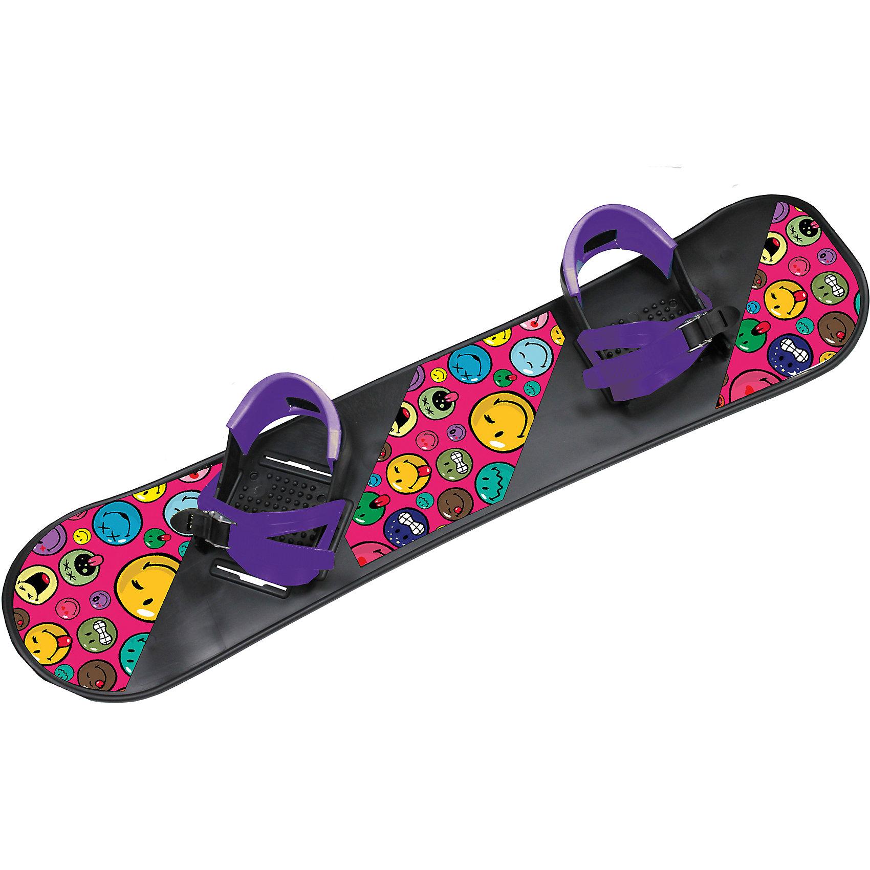 Сноуборд Смайли с фиолетовыми креплениями