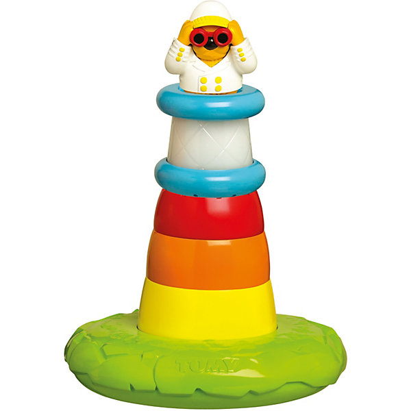 Игрушка для ванной Пирамидка Маяк, TOMYДинамические игрушки<br>Прекрасная игрушка сделает купание ребенка веселым и интересным. Представляет собой пирамидку, состоящую из пяти колец, наверху - фигурка смотрителя. Яркий маяк контрастной расцветки привлечет внимание малыша, а собирание пирамидки разовьет моторику рук и цветовосприятие.<br>Каждый блок пирамидки имеет разные отверстия, так что малыш получит массу удовольствия, проливая через них воду. А построив маяк, малыш увидит как горит его яркий фонарь, услышит шум моря, крики чаек и торжественную мелодию.<br><br>Игрушка выполнена из гипоаллергенного материала, не имеет острых углов, абсолютно безопасна для ребенка.<br>Все игрушки Томи отличает высочайшее японское качество, уровень безопасности и надежность.<br>Игрушка сочетает в себе развлечение и  отлично подходит для изучения цветов, форм и размеров, так что малыш сможет развиваться во время игры.<br><br>Дополнительная информация:<br><br>- Материал: пластик.<br>- Размер основания: 18х18 см<br>- Высота: 28 см.<br>- В комплекте:  Основание, 3 разноцветных блока-лейки, фонарь, фигурка смотрителя маяка. <br>- Работает от 3-х  батареек  LR44 ( в комплект входят)<br>- Размеры упаковки: 18 x 21 x 12 см.<br>- Цвет: салатовый, желтый, оранжевый, красный, белый, голубой.<br><br>Игрушку для ванной Пирамидка Маяк, TOMY (Томи) можно купить в нашем магазине.<br>Ширина мм: 308; Глубина мм: 223; Высота мм: 228; Вес г: 666; Возраст от месяцев: 12; Возраст до месяцев: 36; Пол: Унисекс; Возраст: Детский; SKU: 3922276;