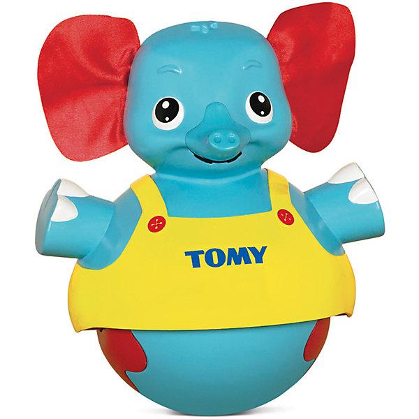 Неваляшка Слоник учится ходить, TOMYЮлы, неваляшки<br>Классическая игрушка - неваляшка, знакомая всем с детства, в новом ярком исполнении. Слоник имеет ушки из ткани, сам выполнен из гипоаллергенного пластика, безопасного для детей. Этот милый слоненок подходит для детей разного возраста. Если ваш кроха еще не умеет самостоятельно передвигаться, он может просто наблюдать за слоником и слушать веселую мелодию. Если малыш уже может самостоятельно ползать или ходить, можно поставить слоника рядом с ним, нажать на голову - игрушка будет двигаться вперед и исполнять мелодию, стимулируя ребенка идти или ползти за ней. <br><br>Дополнительная информация:<br><br>- Материал: пластик, текстиль.<br>- Высота: 19 см.<br>- Цвет: желтый, красный, голубой.<br>- Звуковые эффекты: есть.<br>- Элемент питания: 3 батарейки ААА( в комплекте).<br><br>Игрушку Слоник учится ходить, TOMY (Томи) можно купить в нашем магазине.<br><br>Ширина мм: 210<br>Глубина мм: 150<br>Высота мм: 210<br>Вес г: 977<br>Возраст от месяцев: 10<br>Возраст до месяцев: 36<br>Пол: Унисекс<br>Возраст: Детский<br>SKU: 3922277