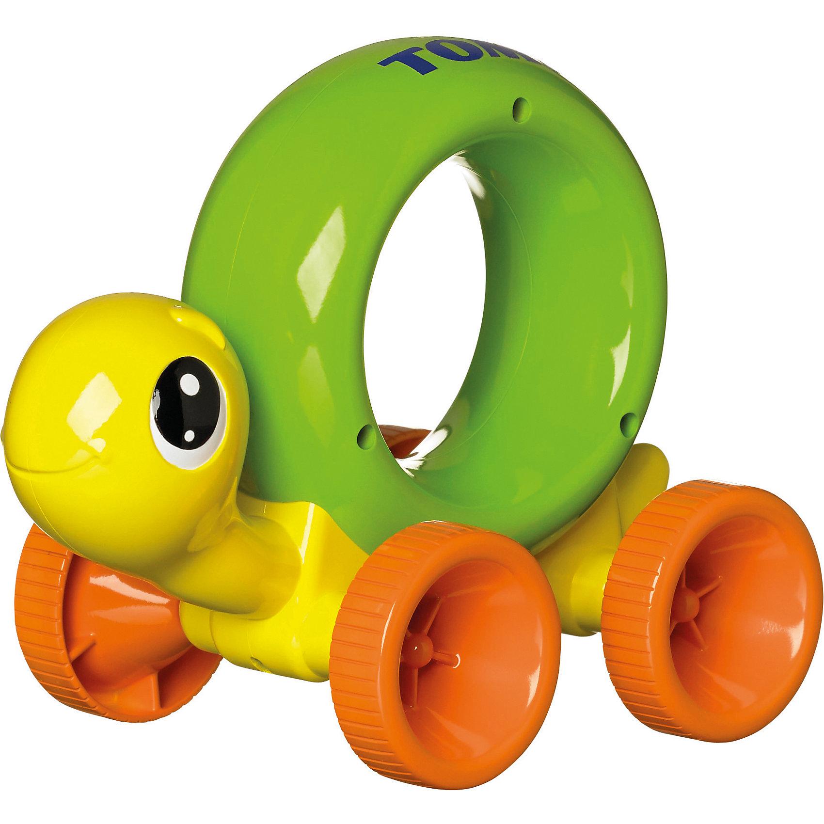 Игрушка Нажимай и Играй - Черепашка, TOMYИгрушки для малышей<br>Эта забавная черепашка поможет вашему малышу научиться быстро ползать, порадует его яркой расцветкой, подарит хорошее настроение. Игрушка изготовлена из гипоаллергенного материала, не имеет острых углов, абсолютно безопасна для ребенка. Панцирь черепашки выполнен в виде кольца, за которое очень удобно держаться маленькой детской ручкой. Малыш будет катить черепашку впереди себя, нажимая на панцирь, игрушка начнет ускоряться - кроха будет ползти за ней. <br><br>Дополнительная информация:<br><br>- Материал: пластик.<br>- Высота: 17х11х14 см.<br>- Цвет: желтый, оранжевый, светло-зеленый.<br><br>Игрушку Нажимай и Играй - Черепашка, TOMY (Томи) можно купить в нашем магазине.<br><br>Ширина мм: 210<br>Глубина мм: 125<br>Высота мм: 160<br>Вес г: 360<br>Возраст от месяцев: 9<br>Возраст до месяцев: 36<br>Пол: Унисекс<br>Возраст: Детский<br>SKU: 3922278