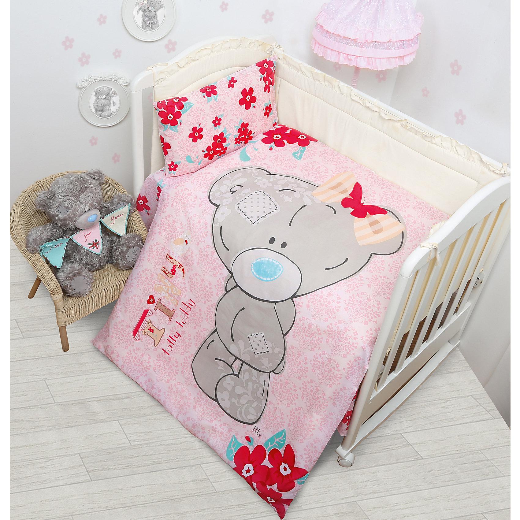 Мона Лиза Постельное белье детское Малышка Тедди, Me to You, розовый футболка для беременных printio мишка me to you
