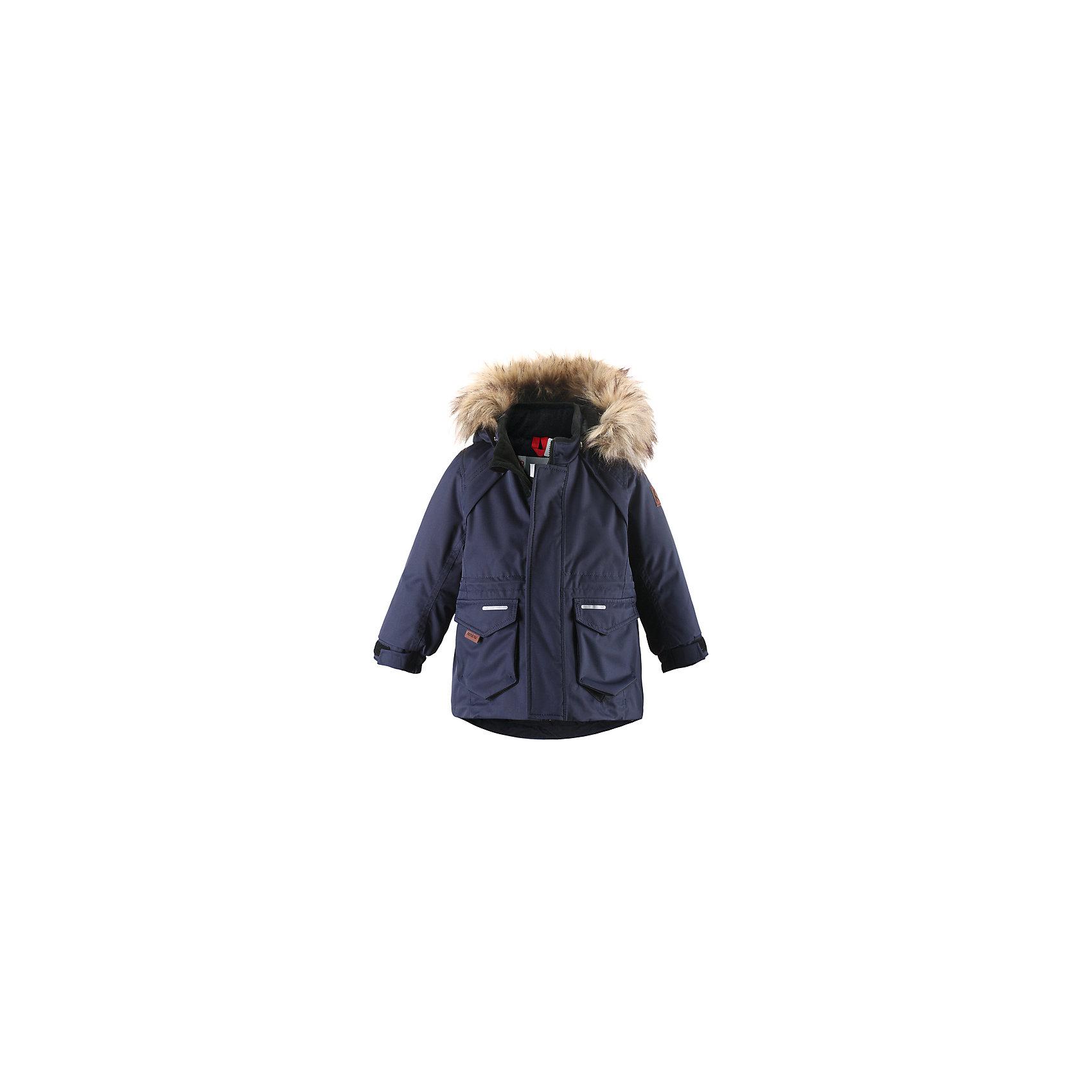 Куртка Reimatec® ReimaКуртка Reimatec (Рейматек) от популярной финской марки Reima.<br>Состав:<br>100% ПА, ПУ-покрытие<br><br>Особенности:<br>водонепроницаемая зимняя куртка<br>все швы проклеены<br>особый крой рукавов<br>отстегивающийся искусственный мех на капюшоне<br>липучки для регулировки манжет<br>отстегивающийся капюшон<br><br>Дополнительная информация:<br>Состав: 100% полиэстер<br>Водонепроницаемость: 12000 мм<br>Воздухонепроницаемость: 8000 г/м/24 ч<br>Износостойкость 30000 об. (тест Мартиндейла)<br>Водо и грязеотталкивающая пропитка<br>Утеплитель: 140 г<br>Температурный режим: до -20<br><br>Куртку Reimatec (Рейматек) Reima (Рейма) можно купить в нашем магазине.<br><br>Ширина мм: 356<br>Глубина мм: 10<br>Высота мм: 245<br>Вес г: 519<br>Цвет: синий<br>Возраст от месяцев: 6<br>Возраст до месяцев: 9<br>Пол: Унисекс<br>Возраст: Детский<br>Размер: 74,98,80,86,92<br>SKU: 3924795