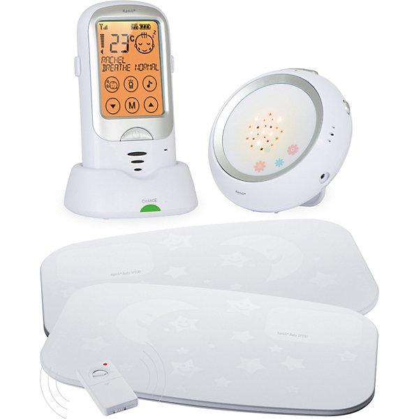 Радионяня Baby с расширенным монитором дыхания RA300SP2, RamiliРадионяни<br>Современная технология передачи данных обеспечивает кристально чистую связь без помех и на дальнем расстоянии. Имеет расширенный монитор дыхания Ramili SP200 &amp; SP100 в комплекте. Включается автоматически при обнаружении детского плача и передает сигнал тревоги на родительский блок, включая передачу звука. Родители также могут прослушать звук из детской комнаты или же поговорить с ребенком, нажав и отпустив кнопку обратной связи. Для наиболее часто используемых функций на главный экран вынесены отдельные сенсорные кнопки. Оба блока радионяни могут работать без подключения к розетке. На детском блоке имеется ночник, который включается автоматически при детском плаче, можно изменять настройки включения ночника. Ночник имеет функцию проектора звездного неба. При обнаружении звука срабатывании монитора дыхания на любом из блоков, радионяня автоматически переключается на этот детский блок и оповещает родителей о тревожной ситуации. Детский блок оснащен термометром, показания которого отображаются на родительском блоке. Так же радионяня имеет таймер кормления, вибросигнал на родительском блоке, колыбельные мелодии, оповещение о выходе из зоны приема, о низком заряде аккумулятора или заряде батареи на детском блоке. <br><br>Дополнительная информация:<br><br>- Комплектация: родительский блок, детский блок, аккумулятор для родительского блока подставка-зарядное устройство. <br>- Питание родительского блока: от сети (220 В) или Li-Pol аккумулятора 3.7В (720 мАч)<br>- Питание детского блока: сеть, батарейки (не входят в комплект).<br>- Габариты родительского блока: 56 x 110 x 27 мм; вес – 100гр.<br>- Функции: активация при плаче; мониторинг по требованию; двухсторонняя связь; ночник; проектор звездного неба; возможность подключения нескольких блоков; вибросигнал; термометр; таймер кормления; колыбельные; оповещения о выходе из зоны приема или низком заряде аккумулятора и батареек, регулировка звука.