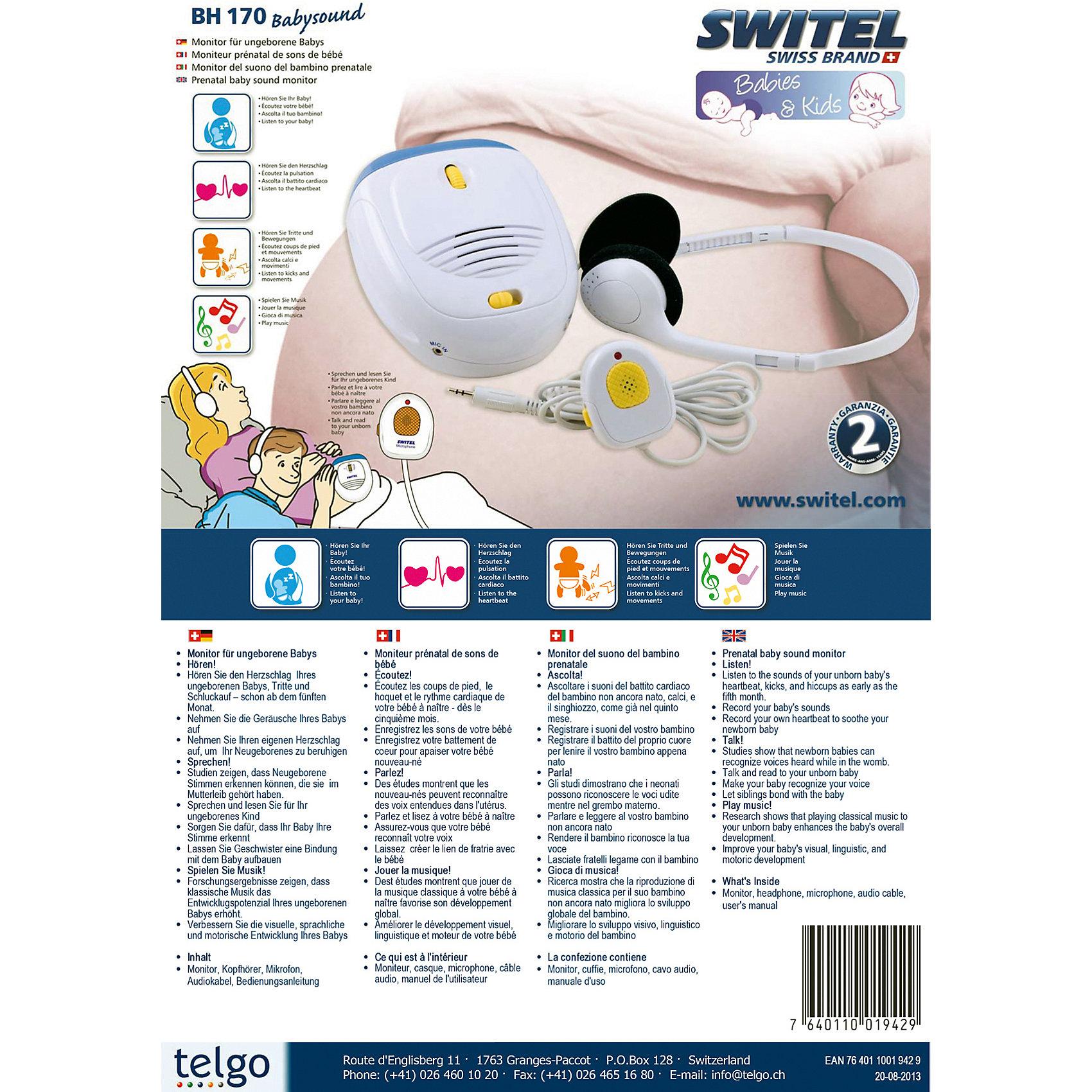 Электронный стетоскоп для будущей мамы BH170, SWITEL