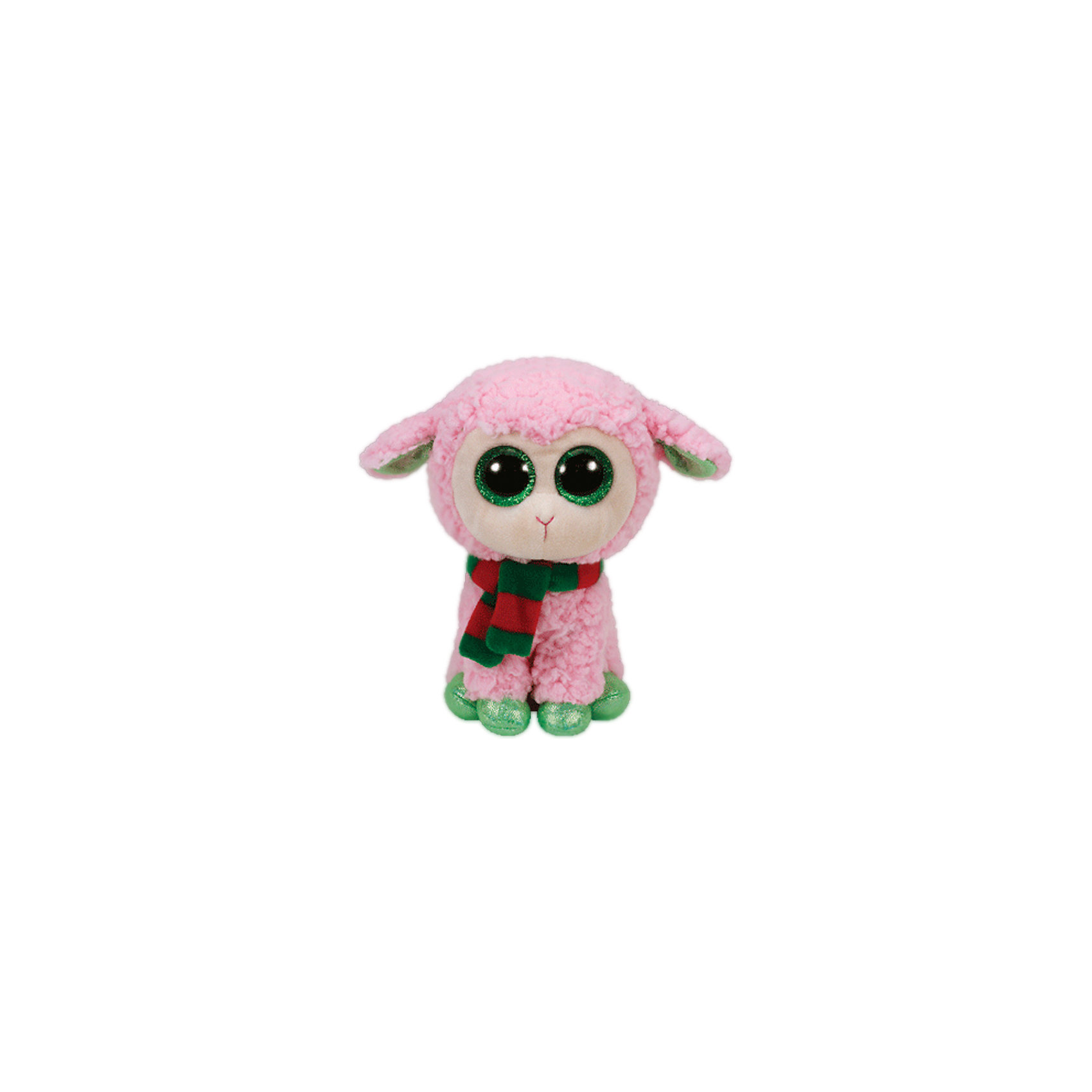Овечка розовая с шарфом, 23 см, Ty