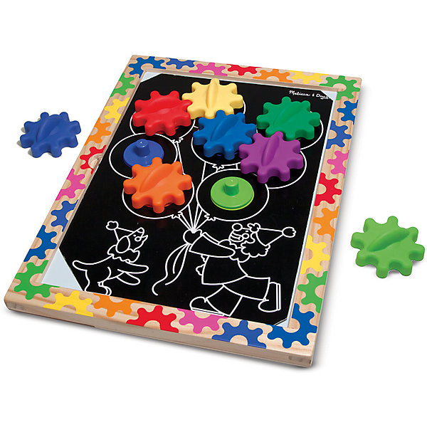 Колесики на магнитах в рамке, Melissa &amp; DougИзучаем цвета и формы<br>Замечательная и занимательная игрушка - колесики на магнитах в рамке от известного бренда Melissa &amp; Doug.  Ваш ребенок сам сможет выбрать один из десяти представленных шаблонов и вставить его в деревянную рамку. В каждом шаблоне есть отверстия, вставив в которые колесики, вы увидите удивительные механизмы. Игра развивает мелкую моторику, пространственное воображение, фантазию, логику, познавательный интерес и цветовое восприятие. Обладает следующими особенностями:<br>- экологически чистые материалы, безопасные красители;<br>- яркие цвета;<br>- 10 шаблонов;<br>- крупные элементы удобны даже для маленьких ручек.<br>Отличная игрушка для детей!<br><br>Дополнительная информация:<br>- вес: 1133 гр;<br>- габариты: 280х380х30 мм;<br>- рекомендуемый возраст: от 1 года с участием родителей.<br><br>Колесики на магнитах в рамке Melissa &amp; Doug можно купить в нашем магазине<br>Ширина мм: 280; Глубина мм: 380; Высота мм: 30; Вес г: 1133; Возраст от месяцев: 24; Возраст до месяцев: 60; Пол: Унисекс; Возраст: Детский; SKU: 3927703;