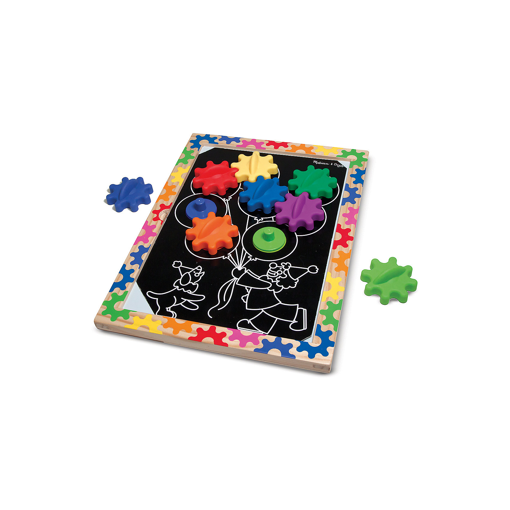 Колесики на магнитах в рамке, Melissa &amp; DougРазвивающие игры<br>Замечательная и занимательная игрушка - колесики на магнитах в рамке от известного бренда Melissa &amp; Doug.  Ваш ребенок сам сможет выбрать один из десяти представленных шаблонов и вставить его в деревянную рамку. В каждом шаблоне есть отверстия, вставив в которые колесики, вы увидите удивительные механизмы. Игра развивает мелкую моторику, пространственное воображение, фантазию, логику, познавательный интерес и цветовое восприятие. Обладает следующими особенностями:<br>- экологически чистые материалы, безопасные красители;<br>- яркие цвета;<br>- 10 шаблонов;<br>- крупные элементы удобны даже для маленьких ручек.<br>Отличная игрушка для детей!<br><br>Дополнительная информация:<br>- вес: 1133 гр;<br>- габариты: 280х380х30 мм;<br>- рекомендуемый возраст: от 1 года с участием родителей.<br><br>Колесики на магнитах в рамке Melissa &amp; Doug можно купить в нашем магазине<br><br>Ширина мм: 280<br>Глубина мм: 380<br>Высота мм: 30<br>Вес г: 1133<br>Возраст от месяцев: 24<br>Возраст до месяцев: 60<br>Пол: Унисекс<br>Возраст: Детский<br>SKU: 3927703