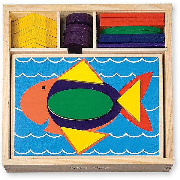 Трафарет и блоки Первые навыки, Melissa &amp; DougИзучаем цвета и формы<br>Замечательная развивающая деревянная игрушка Трафарет и блоки из серии Первые навыки от известного американского бренда Melissa &amp; Doug. Игра стимулирует воображение и фантазию, развивает мелкую моторику, помогает легко запомнить цвета и геометрические формы. Изделие выполнено из натурального дерева высокого качества с использованием нетоксичных и безопасных для здоровья малыша красок. Обладает следующими особенностями:<br>- экологически чистые материалы, приятные на ощупь, безопасные красители;<br>- яркие насыщенные цвета;<br>- 10 трафаретов с углублениями под деревянные блоки;<br>- удобная и прочная деревянная коробочка для хранения.<br>Яркая, веселая и полезная игрушка для ребенка. <br><br>Дополнительная информация:<br>- Вес: 1608 гр;<br>- Габариты: 270х270х60 мм;<br>- Рекомендуемый возраст: с 12 месяцев с обязательным участием взрослых.<br><br>Трафарет и блоки Melissa &amp; Doug можно купить в нашем магазине<br>Ширина мм: 270; Глубина мм: 270; Высота мм: 60; Вес г: 1608; Возраст от месяцев: 24; Возраст до месяцев: 60; Пол: Унисекс; Возраст: Детский; SKU: 3927713;