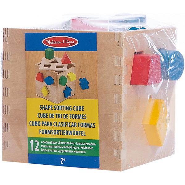 Сортировщик фигур Куб, Melissa &amp; DougРазвивающие игрушки<br>Замечательная деревянная развивающая игрушка -  сортировщик фигур Куб от известного американского бренда Melissa &amp; Doug. Легко и ненавязчиво познакомит Вашего малыша с основными геометрическими фигурами и цветами, а также поможет развить мелкую моторику, координацию, пространственное мышление, логику и внимательность. Обладает следующими особенностями:<br>- экологически чистые материалы, приятные на ощупь;<br>- яркие насыщенные цвета;<br>- прочная и легкая конструкция.<br>Великолепная игрушка не раз порадует малыша!<br><br>Дополнительная информация:<br>- вес: 725 гр;<br>- габариты: 150х150х160 мм;<br>- рекомендуемый возраст: от 9 месяцев при участии взрослых;<br>- состав: дерево, прессованный картон, пвх.<br><br>Сортировщик фигур Куб Melissa &amp; Doug можно купить в нашем магазине<br><br>Ширина мм: 150<br>Глубина мм: 150<br>Высота мм: 160<br>Вес г: 725<br>Возраст от месяцев: 24<br>Возраст до месяцев: 60<br>Пол: Унисекс<br>Возраст: Детский<br>SKU: 3927714