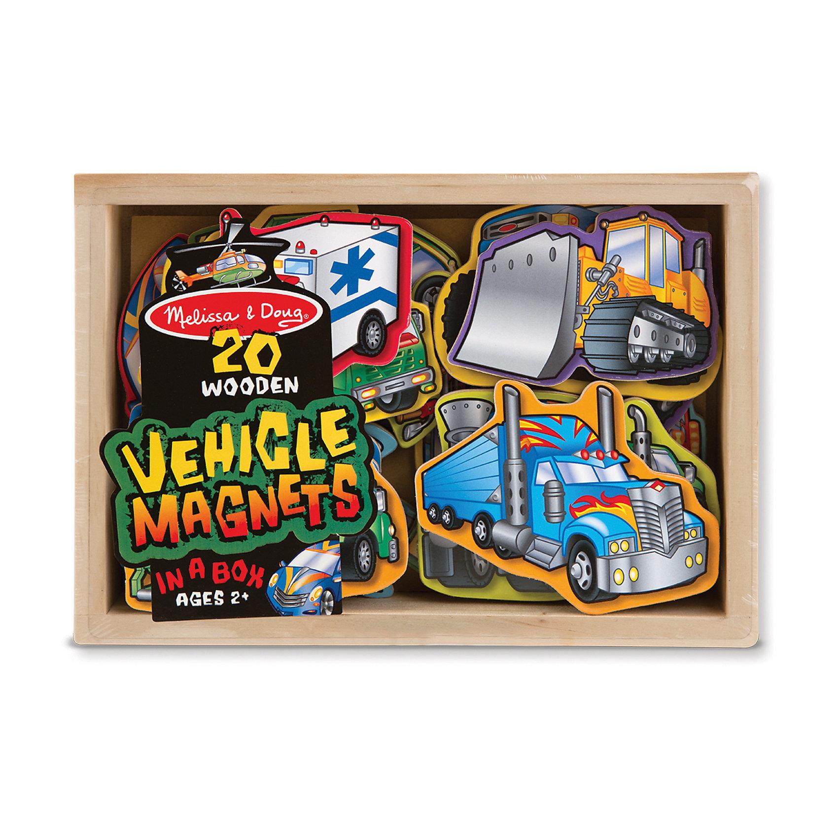 Магнитная игра Автомобили, Melissa &amp; DougЗамечательная магнитная игра Автомобили от известного американского бренда Melissa &amp; Doug для мальчика. Набор содержит 20 видов автомобилей, некоторые из которых уже хорошо известны малышу, а с некоторыми придется познакомиться в процессе игры. Скорая помощь, самолет, вертолет, строительная техника, мотоцикл, лимузин - что выберет Ваш сын? Каждая фигурка выполнена из дерева с магнитом, поэтому легко крепится к холодильнику, пока мама готовит, либо к магнитной доске. Игровой набор обладает следующими особенностями:<br>- качественные материалы, приятные на ощупь;<br>- яркие насыщенные цвета;<br>- хорошие понятные изображения;<br>- прочный деревянный ящик для хранения и транспортировки.<br>Отличная игра для юного автолюбителя!<br><br>Дополнительная информация:<br>- вес: 408 гр;<br>- габариты: 140х200х40 мм;<br>- рекомендуемый возраст: от 1 года при участии родителей;<br>- состав: дерево, прессованный картон, пвх.<br><br>Магнитную игру Автомобили Melissa &amp; Doug можно купить в нашем магазине<br><br>Ширина мм: 140<br>Глубина мм: 200<br>Высота мм: 40<br>Вес г: 408<br>Возраст от месяцев: 24<br>Возраст до месяцев: 60<br>Пол: Унисекс<br>Возраст: Детский<br>SKU: 3927716