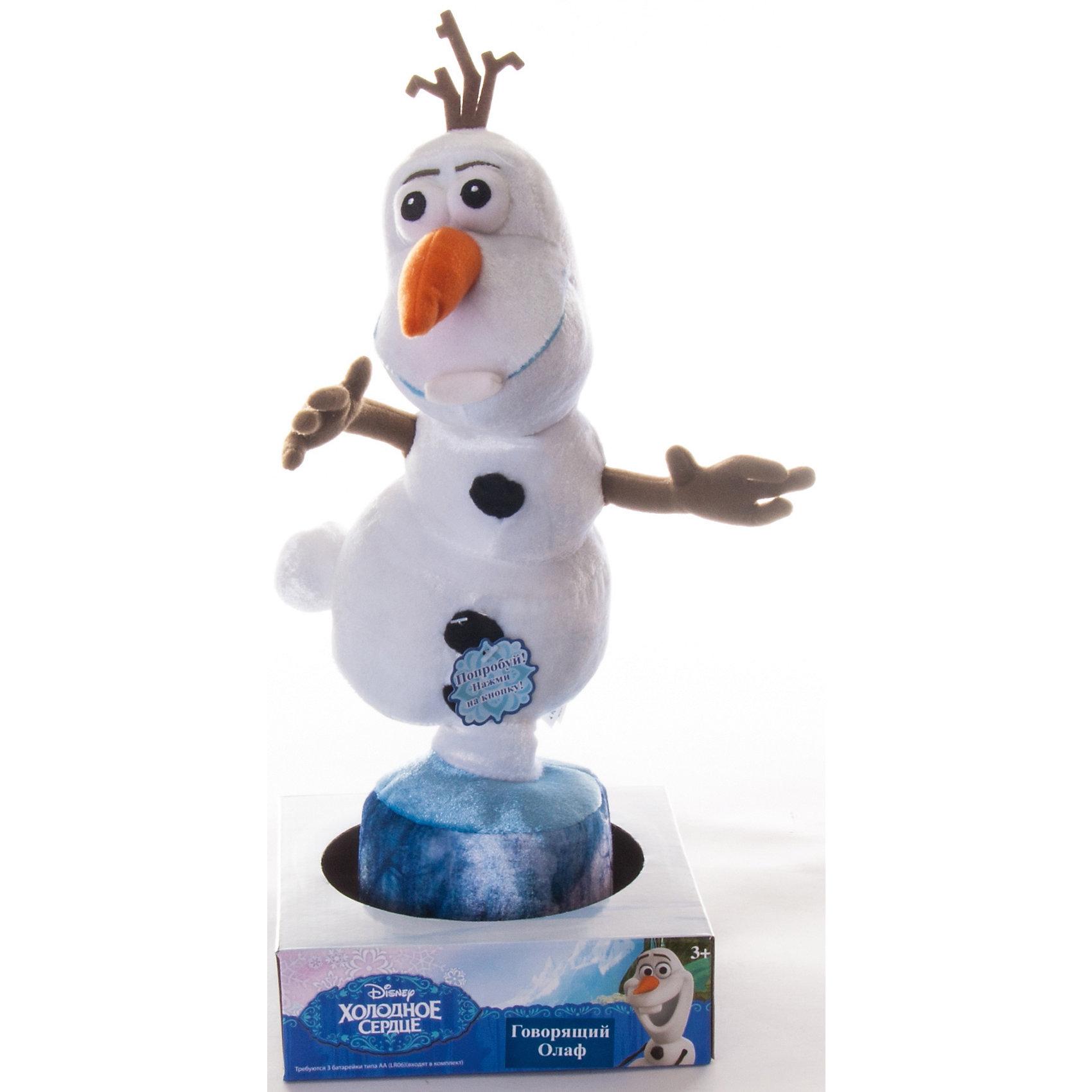 Disney Говорящий Олаф, Холодное сердце, 35 см.,  Disney игровые фигурки bullyland фигурка принцесса дисней холодное сердце снеговик олаф 4 5 см