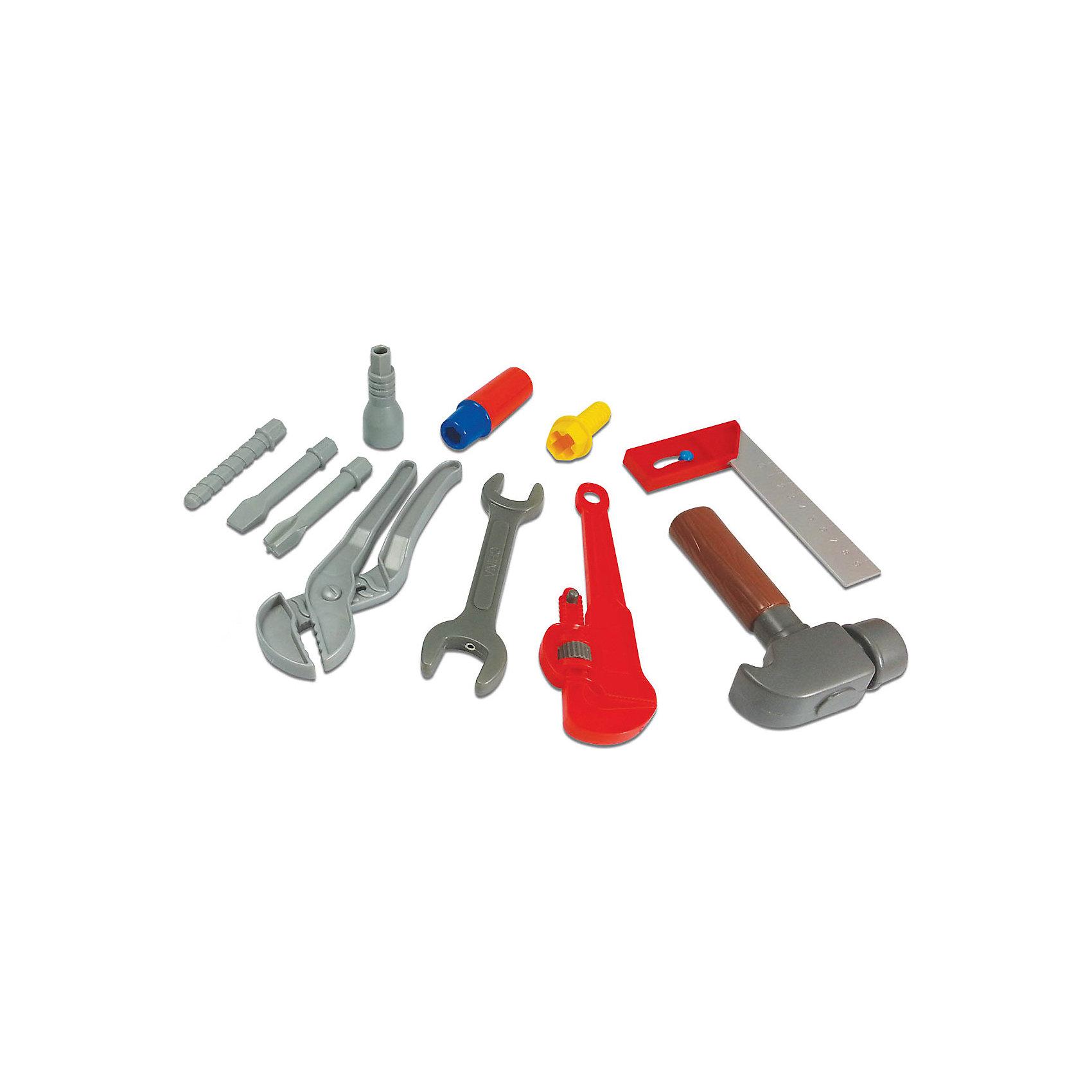 Набор инструментов на пояс, Робокар ПолиИгрушки<br>Ваш ребенок придет в восторг от набора инструментов с изображением любимого героя. Мальчики любят смотреть, как взрослые чинят  или собирают  что-либо,  и обязательно захотят попробовать тоже. Инструменты из этого набора выполнены из высококачественного пластика, прекрасно детализированы и очень похожи на настоящие. При этом они не имеют острых углов и абсолютно безопасны для детей. Игрушка развивает мелкую моторику, память логическое мышление, навыки обращения с инструментами. <br><br>Дополнительная информация:<br><br>- Материал: пластик.<br>- Комплектация: 5 инструментов (ключ, ключ разводной, молоток, уголок-уровень, рукоятка для отвертки), 6 насадок (в том числе 3 вида отверток)<br>- Размер инструмента: 15 см. <br><br>Набор инструментов на пояс, Робокар Поли (Robocar Poli) можно купить в нашем магазине.<br><br>Ширина мм: 490<br>Глубина мм: 60<br>Высота мм: 340<br>Вес г: 700<br>Возраст от месяцев: 36<br>Возраст до месяцев: 84<br>Пол: Унисекс<br>Возраст: Детский<br>SKU: 3929158