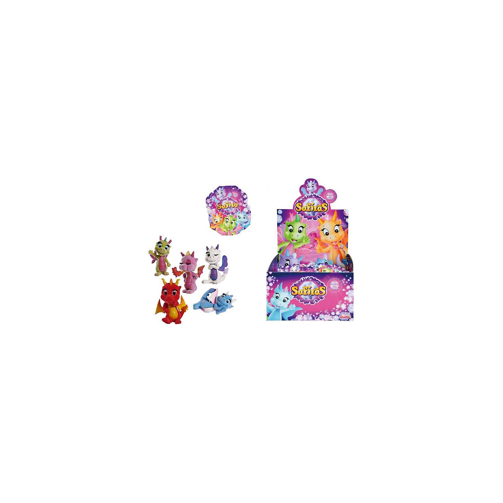 Фигурки дракончиков Safiras, 4 стихии, в ассортименте, SimbaДраконы и динозавры<br>Фигурки дракончиков Safiras, 4 стихии, в ассортименте, Simba (Симба) - это лучший подарок для малышей, ведь им так нравятся сюрпризы.<br>Фигурка дракончика Safiras. 4 стихии от компании Simba - это игрушка-сюрприз. В закрытом непрозрачном пакетике прячется маленький пяти-шестисантиметровый дракончик. Он изготовлен из флокированного пластика, который немного напоминает на ощупь бархат. Вы узнаете, какую фигурку получили, только когда откроете пакетик. К каждой игрушке прилагается карточка с описанием. Всего может быть 17 видов дракончиков, каждый из которых принадлежит к одной из четырех стихий: земли, воздуха, огня или воды. И только самый редкий экземпляр, по имени Драки, относится к теневым драконам. Попытайтесь собрать всю коллекцию, обмениваясь повторными фигурками с друзьями!<br><br>Дополнительная информация:<br><br>- В комплекте: 1 фигурка, буклет, карточка героя<br>- Материал: пластик, флок<br>- Высота фигурки: 5-6 см.<br>- Упаковка: фольгированный пакетик.<br>- ВНИМАНИЕ! Данный артикул представлен в разных вариантах исполнения. К сожалению, заранее выбрать определенный вариант невозможно. При заказе нескольких фигурок возможно получение одинаковых<br><br>Фигурки дракончиков Safiras, 4 стихии, в ассортименте, Simba (Симба) можно купить в нашем интернет-магазине.<br><br>Ширина мм: 141<br>Глубина мм: 116<br>Высота мм: 25<br>Вес г: 16<br>Возраст от месяцев: 36<br>Возраст до месяцев: 72<br>Пол: Женский<br>Возраст: Детский<br>SKU: 3930043