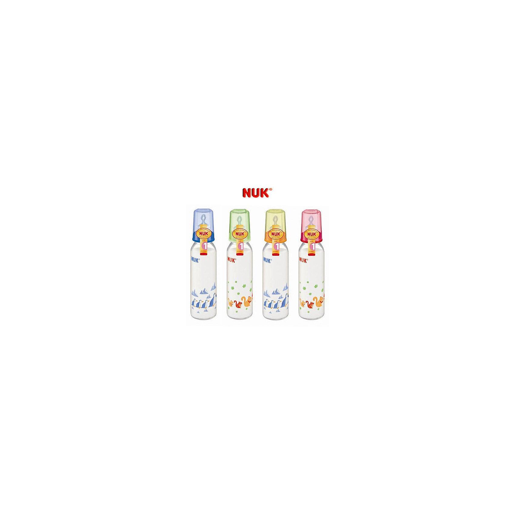 Бутылочка полипропиленовая (240 мл) с силиконовой соской, NUKБутылочки и аксессуары<br>Одна из важнейших задач родителей - обеспечить ребенку правильное и комфортное питание. Современные технологии помогают это сделать достаточно легко. Пример тому: эта бутылочка со специальной соской.<br>Бутылочка имеет удобную форму, она герметична и сделана из безопасного даже для самых маленьких пластика. Соска произведена из силикона - на сегодняшний день это один из лучших материалов для производства сосок. Она имеет отверстие, рассчитанное на жидкое питание. Форма соски позволяет обеспечить малышу комфорт при питании, а также предотвратить заглатывание воздуха и образование колик. Подарите удобство себе и ребенку!<br><br>Дополнительная информация:<br><br>цвет: разноцветный;<br>материал: пластик, силикон;<br>возраст ребенка: с рождения;<br>противоколиковый клапан;<br>для жидких продуктов;<br>объем: 240 мл.<br><br>Бутылочку полипропиленовую (240 мл) с силиконовой соской от компании NUK можно купить в нашем магазине.<br><br>Ширина мм: 90<br>Глубина мм: 240<br>Высота мм: 50<br>Вес г: 120<br>Возраст от месяцев: 0<br>Возраст до месяцев: 6<br>Пол: Унисекс<br>Возраст: Детский<br>SKU: 3932431