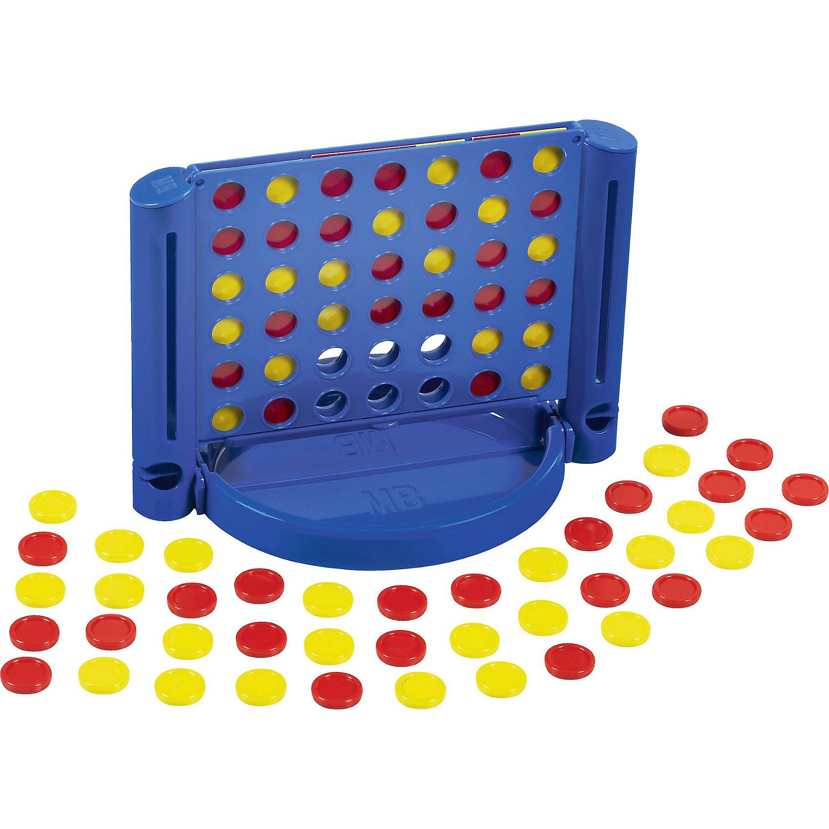 Игра Собери 4 (дорожная версия), HasbroИграй где угодно, играй когда угодно, играй с кем угодно. Нужно собрать четыре фишки в ряд, по горизонтали, вертикали или диагонали, бросая их по очереди в решетку. Победит тот, кто быстрее соберет линию. Компактная дорожная версия популярной игры в удобной упаковке. Игра развивает логику, внимательность, мелкую моторику, мышление. <br><br>Дополнительная информация:<br><br>- Материал: пластик.<br>- Комплектация: игровое поле, красные фишки - 21 шт, желтые фишки - 21 шт, инструкция. <br>- Размер игрового поля: 18x13x11,5 см.<br>- Размер фишки: d-1,5 см.<br>- Количество игроков: 2 человека.<br><br>Игру Собери 4 (дорожная версия), Hasbro можно купить в нашем магазине.<br><br>Ширина мм: 48<br>Глубина мм: 159<br>Высота мм: 235<br>Вес г: 277<br>Возраст от месяцев: 72<br>Возраст до месяцев: 192<br>Пол: Унисекс<br>Возраст: Детский<br>SKU: 3936411