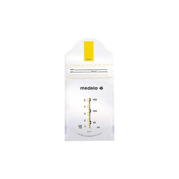 Пакеты одноразовые Pump &amp; Save для сбора и хранения грудного молока 20шт., MedelaМолокоотсосы и аксессуары<br>Используются для хранения дополнительных порций молока в домашних и больничных условиях. Стерильны, уникальная самоклеящаяся лента,  позволяет сцеживать молоко непосредственно в пакет, надежно фиксируя его в воронке молокоотсоса.  Застежка-молния предотвращает протекание молока, а также является барьером для воздуха и влаги, что обеспечивает оптимальную защиту питательных веществ. Пакеты имеют область для маркировки. Занимают в холодильнике меньшее место по сравнению с контейнерами (бутылочками). <br><br>Дополнительная информация:<br><br>- Размер упаковки: 11 x 11,5 x 4,5 см.<br>- Материал: полиэстер, полиэтилен.<br>- Самоклеящаяся лента.<br>- Застежка-молния, устойчивое дно. <br>- Комплектация: 20 одноразовых пакетов. <br><br>Пакеты одноразовые Pump &amp; Save для сбора и хранения грудного молока 20шт., Medela (Медела) можно купить в нашем магазине.<br><br>Ширина мм: 118<br>Глубина мм: 110<br>Высота мм: 46<br>Вес г: 114<br>Возраст от месяцев: -2147483648<br>Возраст до месяцев: 2147483647<br>Пол: Унисекс<br>Возраст: Детский<br>SKU: 3937717