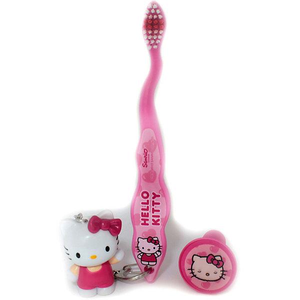 Зубная щетка Hello Kitty 3D, дорожная с брелоком, FireflyЗубные щетки<br>Каждому малышу для путешествий и поездок необходима компактная и красивая дорожная зубная щетка. Представляем Вашему вниманию зубную щетку Hello Kitty (Хелло Китти) 3D Firefly с защитным колпачком и замечательным брелоком. Такую щеточку малыш обязательно захочет взять с собой в дорогу. Щетка Firefly Hello Kitty (Хелло Китти) предназначена специально для детей, а потому ее нейлоновые щетинки особенно мягкие. Они не поранят нежные десны крохи и бережно очистят зубки. Ручка с противоскользящей поверхностью сделает чистку зубов не только увлекательным и полезным, но и удобным процессом. Щетка поставляется в комплекте с защитным чехольчиком и брелком в виде милого белого котенка.<br><br>Дополнительная информация:<br><br>- Удобный защитный чехол;<br>- Брелок Hello Kitty (Хелло Китти) 3D;<br>- Мягкие нейлоновые щетинки;<br>- Эргономичная ручка с противоскользящей поверхностью;<br>- Цветовое поле щетины для оптимального дозирования пасты;<br>- Классный дизайн в стиле Hello Kitty (Хелло Китти);<br>- Цвет: розовый;<br>- Размер упаковки: 25 х 2,5 х 2 см;<br>- Вес: 100 г<br><br>Зубную щетку Hello Kitty (Хелло Китти) 3D дорожную с брелоком, Firefly можно купить в нашем интернет-магазине.<br><br>Ширина мм: 250<br>Глубина мм: 50<br>Высота мм: 20<br>Вес г: 100<br>Возраст от месяцев: 36<br>Возраст до месяцев: 2147483647<br>Пол: Женский<br>Возраст: Детский<br>SKU: 3939240