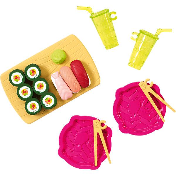 Мини-набор для декора дома Суши, BarbieАксессуары для кукол<br>Характеристики товара:<br><br>• комплектация: суши-тарелка с суши, 2 тарелки и 2 стакана и 2 комплекта палочки благовоний<br>• материал: пластик<br>• кукла продается отдельно<br>• упаковка: блистер<br>• возраст: от трех лет<br>• страна производства: Китай<br>• страна бренда: США<br><br>Этот симпатичный набор и поможет разнообразить игры с любимой куклой! В него входят вещи для детализации жизни куклы. Такой комплект станет великолепным подарком для девочек!<br><br>Куклы - это не только весело, они помогают девочкам развить вкус и чувство стиля, отработать сценарии поведения в обществе, развить воображение и мелкую моторику. Кукла Barbie от бренда Mattel не перестает быть популярной! <br><br>Мини-набор для декора дома Суши от компании Mattel можно купить в нашем интернет-магазине.<br><br>Ширина мм: 155<br>Глубина мм: 78<br>Высота мм: 22<br>Вес г: 26<br>Возраст от месяцев: 36<br>Возраст до месяцев: 96<br>Пол: Женский<br>Возраст: Детский<br>SKU: 3939442