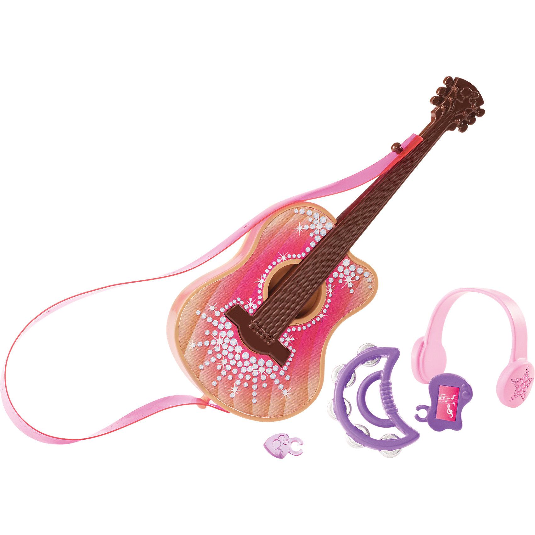 Мини-набор для декора дома Гитара, BarbieХарактеристики товара:<br><br>• комплектация: гитара, наушники, бубен<br>• материал: пластик<br>• кукла продается отдельно<br>• упаковка: блистер<br>• возраст: от трех лет<br>• страна производства: Китай<br>• страна бренда: США<br><br>Этот симпатичный набор и поможет разнообразить игры с любимой куклой! В него входят вещи для детализации жизни куклы. Такой комплект станет великолепным подарком для девочек!<br><br>Куклы - это не только весело, они помогают девочкам развить вкус и чувство стиля, отработать сценарии поведения в обществе, развить воображение и мелкую моторику. Кукла Barbie от бренда Mattel не перестает быть популярной! <br><br>Мини-набор для декора дома Гитара от компании Mattel можно купить в нашем интернет-магазине.<br><br>Ширина мм: 157<br>Глубина мм: 78<br>Высота мм: 22<br>Вес г: 33<br>Возраст от месяцев: 36<br>Возраст до месяцев: 96<br>Пол: Женский<br>Возраст: Детский<br>SKU: 3939444
