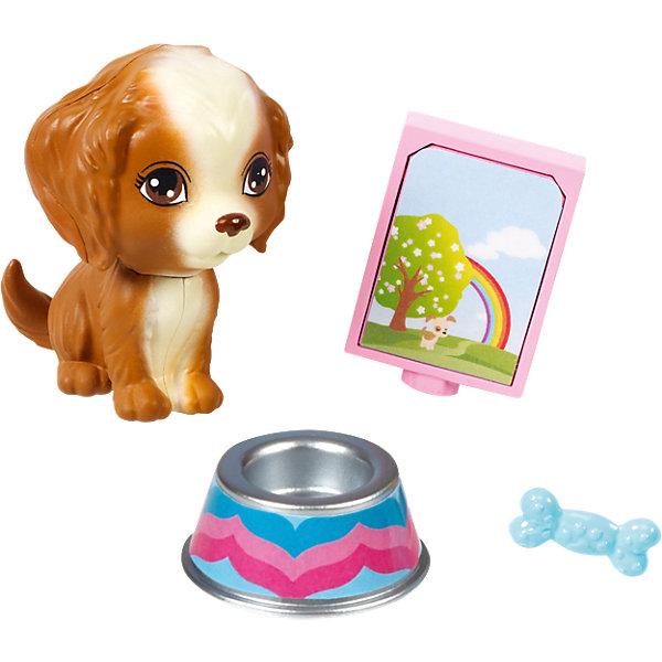 Мини-набор для декора дома Щенок, BarbieОдежда для кукол<br>Характеристики товара:<br><br>• комплектация: щенок, фото-рамка, кость, миска<br>• материал: пластик<br>• кукла продается отдельно<br>• упаковка: блистер<br>• возраст: от трех лет<br>• страна производства: Китай<br>• страна бренда: США<br><br>Этот симпатичный набор и поможет разнообразить игры с любимой куклой! В него входят вещи для детализации жизни куклы. Такой комплект станет великолепным подарком для девочек!<br><br>Куклы - это не только весело, они помогают девочкам развить вкус и чувство стиля, отработать сценарии поведения в обществе, развить воображение и мелкую моторику. Кукла Barbie от бренда Mattel не перестает быть популярной! <br><br>Мини-набор для декора дома Щенок от компании Mattel можно купить в нашем интернет-магазине.<br><br>Ширина мм: 151<br>Глубина мм: 83<br>Высота мм: 40<br>Вес г: 36<br>Возраст от месяцев: 36<br>Возраст до месяцев: 96<br>Пол: Женский<br>Возраст: Детский<br>SKU: 3939446