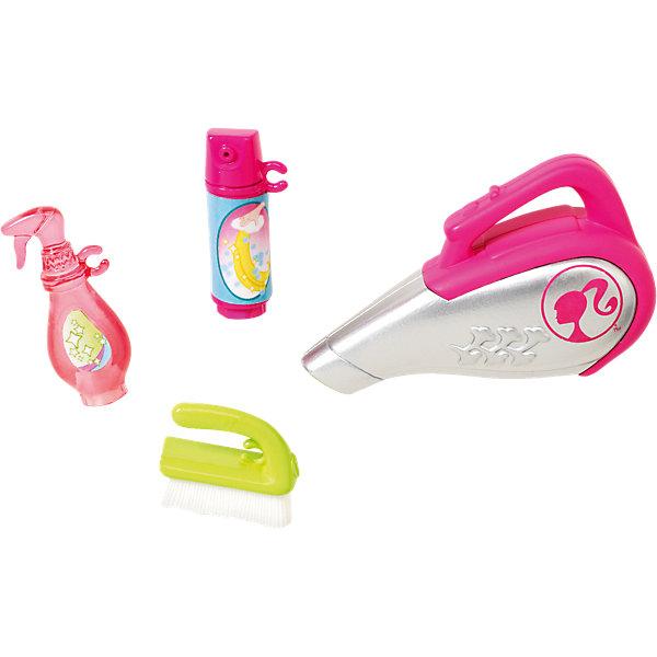 Мини-набор для декора дома Уборка, BarbieАксессуары для кукол<br>Характеристики товара:<br><br>• комплектация: пылесос, щетка средства для уборки<br>• материал: пластик<br>• кукла продается отдельно<br>• упаковка: блистер<br>• возраст: от трех лет<br>• страна производства: Китай<br>• страна бренда: США<br><br>Этот симпатичный набор и поможет разнообразить игры с любимой куклой! В него входят вещи для детализации жизни куклы. Такой комплект станет великолепным подарком для девочек!<br><br>Куклы - это не только весело, они помогают девочкам развить вкус и чувство стиля, отработать сценарии поведения в обществе, развить воображение и мелкую моторику. Кукла Barbie от бренда Mattel не перестает быть популярной! <br><br>Мини-набор для декора дома Уборка от компании Mattel можно купить в нашем интернет-магазине.<br>Ширина мм: 152; Глубина мм: 78; Высота мм: 22; Вес г: 30; Возраст от месяцев: 36; Возраст до месяцев: 96; Пол: Женский; Возраст: Детский; SKU: 3939447;