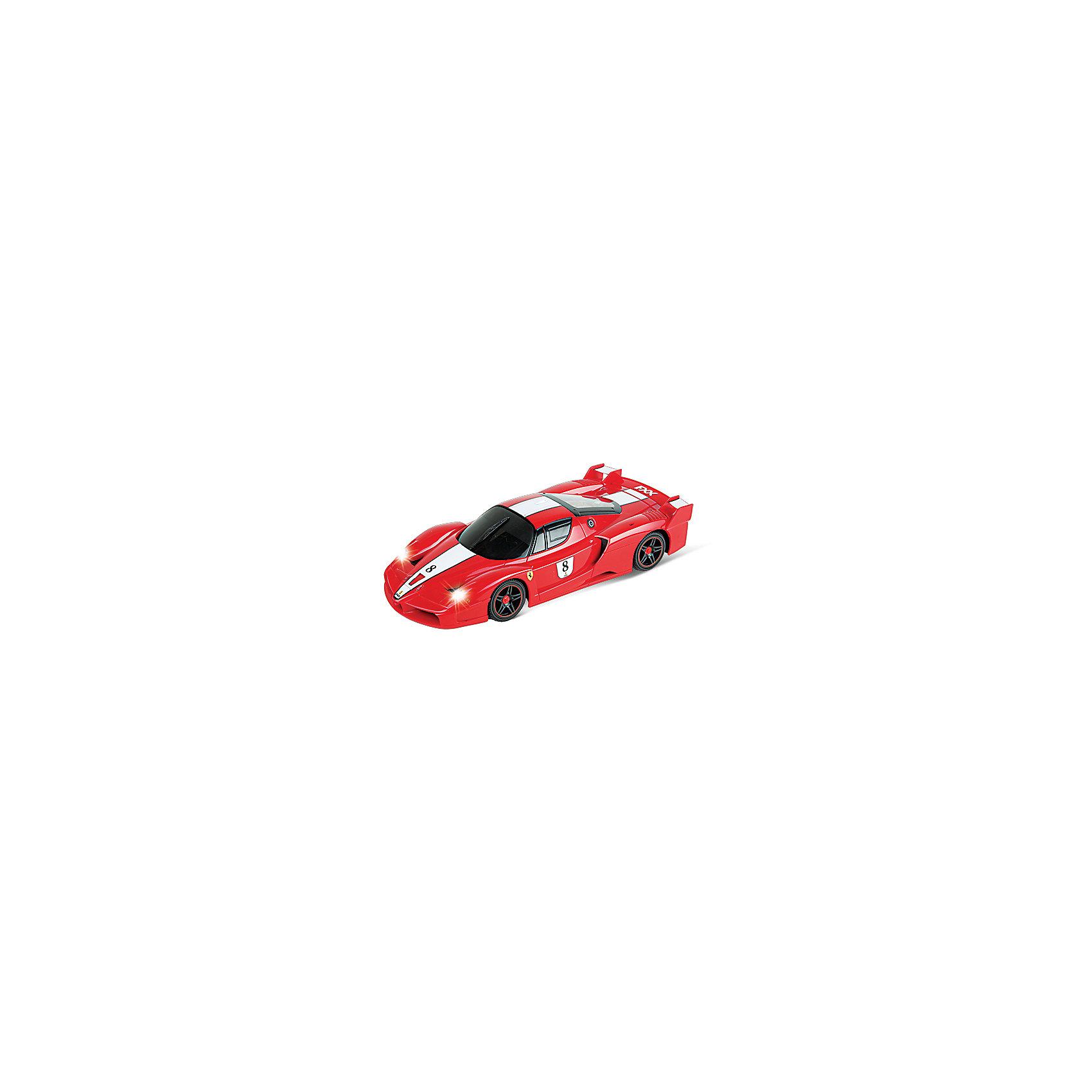 Машина FERRARI FXX, 1:18, со светом, на радиоуправленииТочная копия спортивного автомобиля FERRARI FXX на радиоуправлении прекрасный подарок и малышу и взрослому любителю этой замечательной марки. Спортивная икона в истинном цвете марки - красном, прекрасно подходит для создания коллекции! Прекрасная детализированная копия FERRARI FXX (Феррари FXX), уменьшенная в 18 раз может появиться у Вас дома! Функция полного управления позволяет машине с легкостью обходить все углы, даже на полном ходу. Еще один существенный плюс - у спортивного автомобиля Ferrari FXX полный радиоконтроль и профессиональное шасси. Благодаря независимой подвеске передних и задних колес машина маневрирует, как настоящая. Модель движется со скоростью 10 км/ч, ей можно управлять с расстояния до 32 м. Устраивайте гонки и шоу прямо у себя дома! <br><br>Дополнительная информация:<br><br>- Комплект: машина, пульт радиоуправления, руководство пользователя;<br>- Машинка движется вперёд и назад, влево, вправо;<br>- Полное подпружинивание колес, дифференциал заднего моста;<br>- Светятся фары;<br>- Масштаб: 1:18 см;<br>- Батарейки 5 х АА / LR6 1.5V (пальчиковые) не входят в комплект;<br>- Дальность действия: 32 м;<br>- Материал: пластик, металл;<br>- Цвет: красный;<br>- Размер игрушки: 27 х 12 х 6 см;<br>- Размер упаковки: 34 х 16 х 13 см;<br>- Вес: 870 г<br><br>Машину FERRARI FXX, 1:18, со светом, на радиоуправлении можно купить в нашем интернет-магазине.<br><br>Ширина мм: 340<br>Глубина мм: 160<br>Высота мм: 130<br>Вес г: 870<br>Возраст от месяцев: 36<br>Возраст до месяцев: 144<br>Пол: Мужской<br>Возраст: Детский<br>SKU: 3939476
