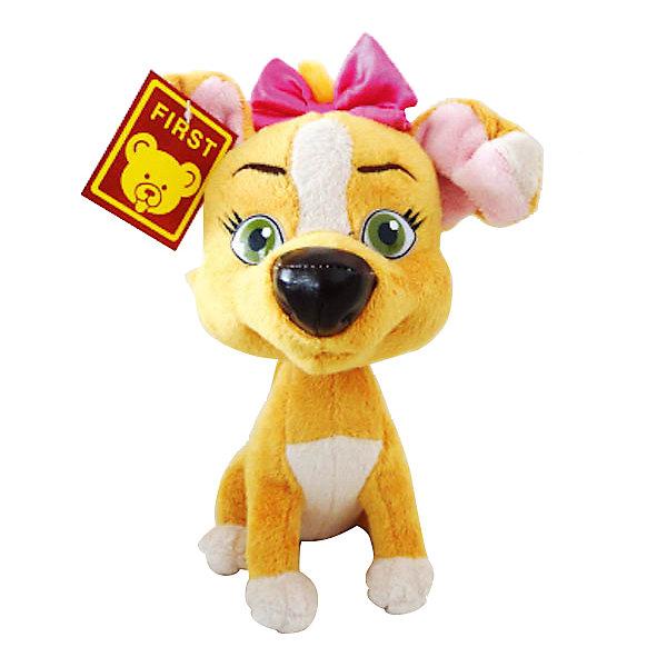 Мягкая игрушка Дина, со звуком, Белка и Стрелка, МУЛЬТИ-ПУЛЬТИМягкие игрушки из мультфильмов<br>Если Ваш ребенка обожает мультфильм Белка и Стрелка, ему никак не обойтись без симпатичной собачки Дины! Дина - это один из трех щенков звездной собаки Белки и пса Казбека. Она, как и все ее браться и сестры, все время попадает в разные передряги. Очаровательная мягкая игрушка Мульти-Пульти Собачка Дина станет малышу хорошим другом, с которым можно с увлечением играть, а также сладко засыпать. Эта добрая, милая игрушка обязательно принесет радость маленькому ребенку. Дина выглядит очень дружелюбно. Игрушка выполнена из мягкого плюшевого материала. Малыш будет разыгрывать замечательные истории и слушать песенки, ведь собачка Дина еще и очень музыкальная! Дина выполнена из безопасных материалов и станет прекрасным дополнением коллекции Белка и Стрелка!<br><br>Дополнительная информация:<br><br>- Игрушка с музыкальным блоком;<br>- Понравится любителям мультфильма Белка и Стрелка;<br>- Мягкая и приятная на ощупь;<br>- Материал: плюш;<br>- 3 батареи LR44 (входят в комплект)<br>- Высота: 23 см;<br>- Размер упаковки: 20 х 10 х 17 см;<br>- Вес: 250 г<br><br>Мягкую игрушку Дина, со звуком, Белка и Стрелка, МУЛЬТИ-ПУЛЬТИ можно купить в нашем интернет-магазине.<br><br>Ширина мм: 200<br>Глубина мм: 100<br>Высота мм: 170<br>Вес г: 250<br>Возраст от месяцев: 12<br>Возраст до месяцев: 60<br>Пол: Унисекс<br>Возраст: Детский<br>SKU: 3939482