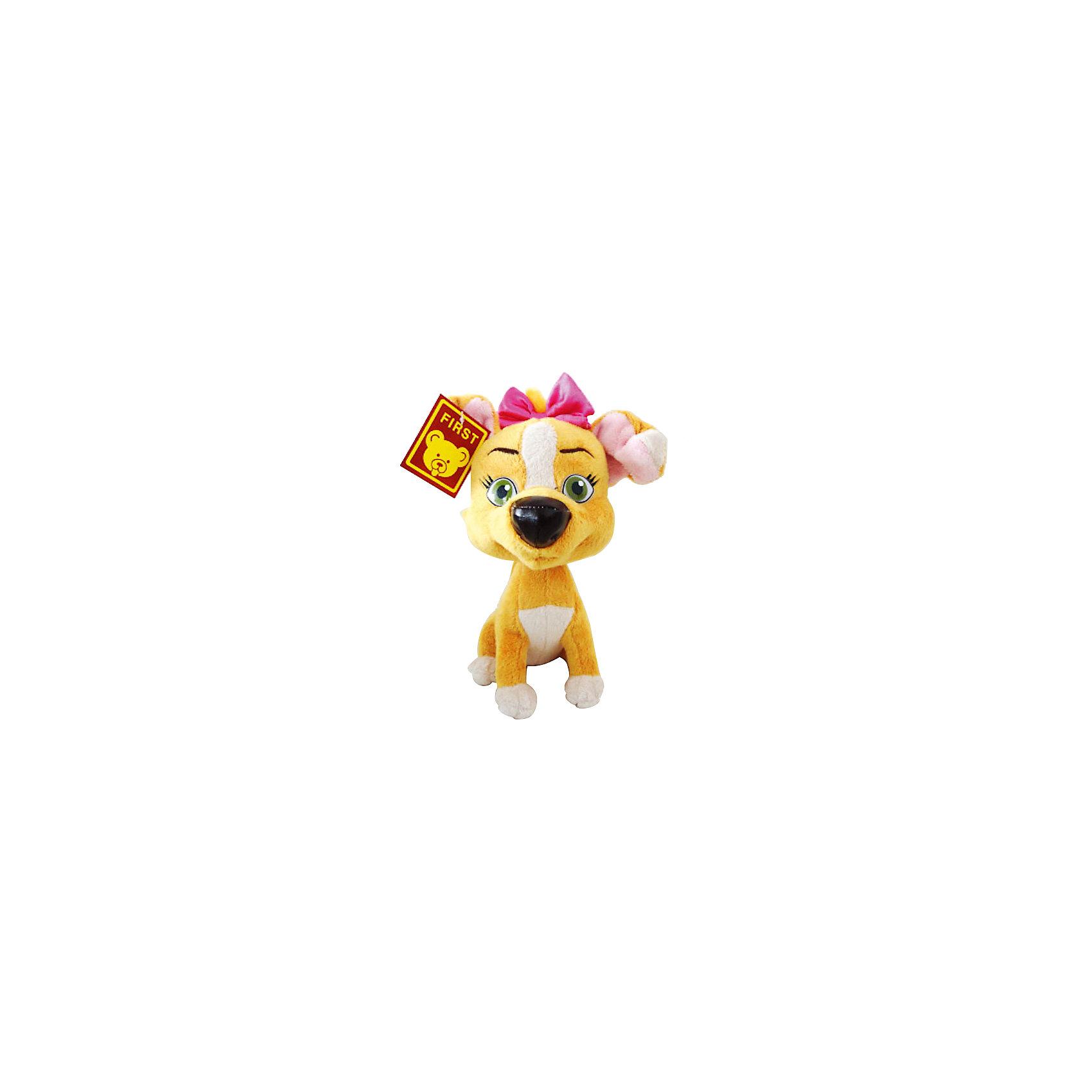 Мягкая игрушка Дина, со звуком, Белка и Стрелка, МУЛЬТИ-ПУЛЬТИОзвученные мягкие игрушки<br>Если Ваш ребенка обожает мультфильм Белка и Стрелка, ему никак не обойтись без симпатичной собачки Дины! Дина - это один из трех щенков звездной собаки Белки и пса Казбека. Она, как и все ее браться и сестры, все время попадает в разные передряги. Очаровательная мягкая игрушка Мульти-Пульти Собачка Дина станет малышу хорошим другом, с которым можно с увлечением играть, а также сладко засыпать. Эта добрая, милая игрушка обязательно принесет радость маленькому ребенку. Дина выглядит очень дружелюбно. Игрушка выполнена из мягкого плюшевого материала. Малыш будет разыгрывать замечательные истории и слушать песенки, ведь собачка Дина еще и очень музыкальная! Дина выполнена из безопасных материалов и станет прекрасным дополнением коллекции Белка и Стрелка!<br><br>Дополнительная информация:<br><br>- Игрушка с музыкальным блоком;<br>- Понравится любителям мультфильма Белка и Стрелка;<br>- Мягкая и приятная на ощупь;<br>- Материал: плюш;<br>- 3 батареи LR44 (входят в комплект)<br>- Высота: 23 см;<br>- Размер упаковки: 20 х 10 х 17 см;<br>- Вес: 250 г<br><br>Мягкую игрушку Дина, со звуком, Белка и Стрелка, МУЛЬТИ-ПУЛЬТИ можно купить в нашем интернет-магазине.<br><br>Ширина мм: 200<br>Глубина мм: 100<br>Высота мм: 170<br>Вес г: 250<br>Возраст от месяцев: 12<br>Возраст до месяцев: 60<br>Пол: Унисекс<br>Возраст: Детский<br>SKU: 3939482