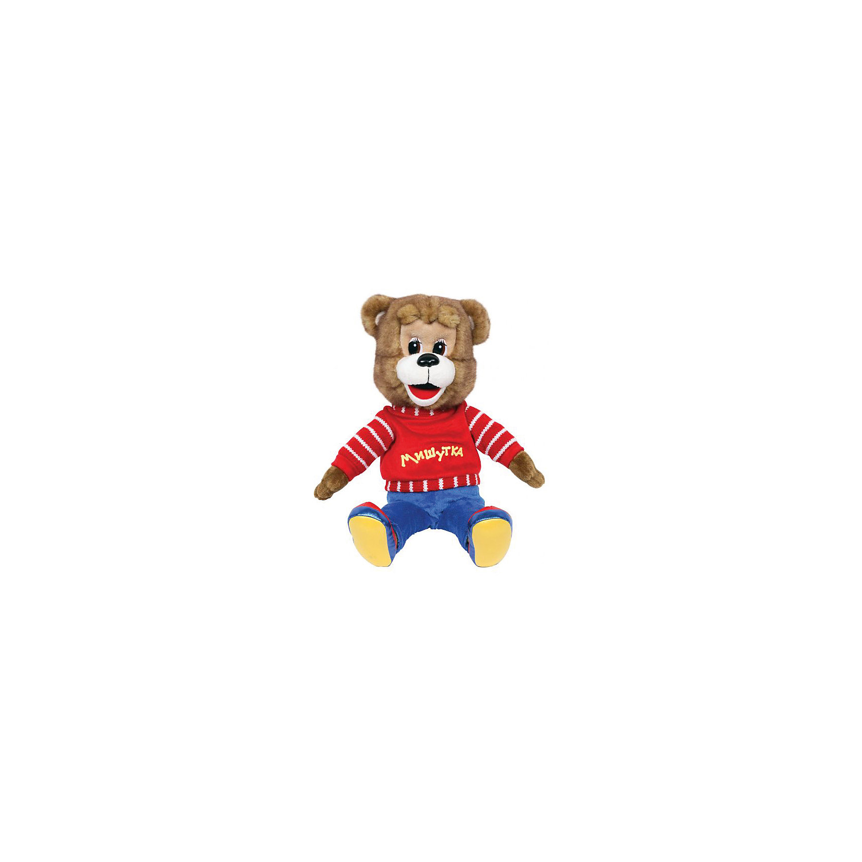 МУЛЬТИ-ПУЛЬТИ Мягкая игрушка Мишутка, 23 см, со звуком, МУЛЬТИ-ПУЛЬТИ мульти пульти коза дереза 23 см со звуком мульти пульти