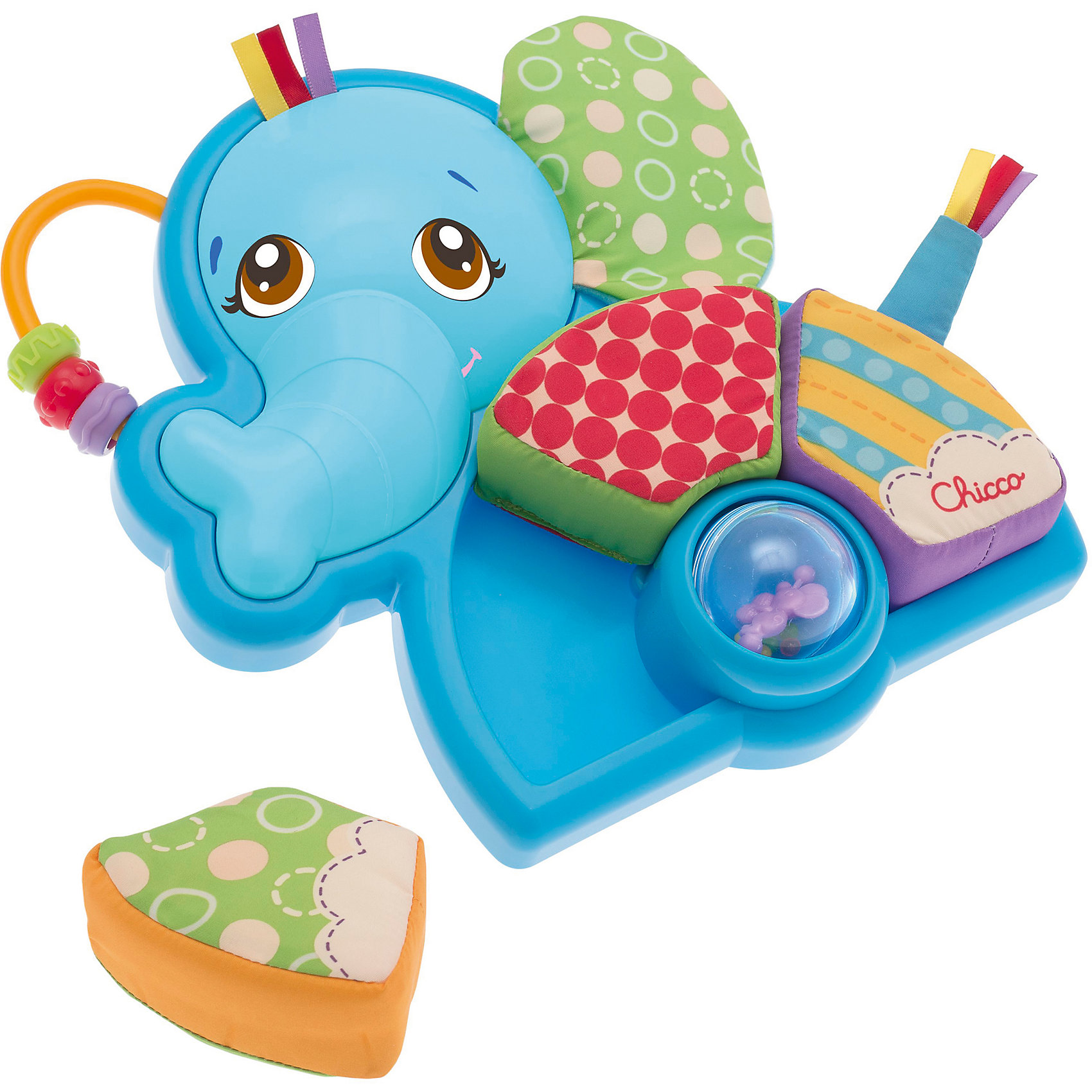 Погремушка-пазл Мистер Слоненок, ChiccoРазвивающие игрушки<br>Погремушка-пазл Мистер Слоненок, Chicco (Чико) – эта забавная игрушка привлечет внимание вашего малыша.<br>Погремушка-пазл Мистер Слоненок оснащена тремя съемными тканевыми частями, которые помогут ребенку освоить понятия формы и размера. Малыш получит удовольствие, разбираясь, куда поместить каждую часть пазла. Пробуйте с ребенком различные варианты игр: шарик-погремушка с маленькой забавной мышкой внутри; кольца с выпуклыми рисунками; погремушка на ухе слоника. Изготовлено из высококачественных безопасных материалов.<br><br>Дополнительная информация:<br><br>- Тканевые блоки можно стирать в стиральной машине<br>- Размер упаковки: 28,7 х 23,9 х 5 см.<br> <br>Погремушку-пазл Мистер Слоненок, Chicco (Чико) можно купить в нашем интернет-магазине.<br><br>Ширина мм: 288<br>Глубина мм: 238<br>Высота мм: 53<br>Вес г: 323<br>Возраст от месяцев: 6<br>Возраст до месяцев: 36<br>Пол: Унисекс<br>Возраст: Детский<br>SKU: 3943189
