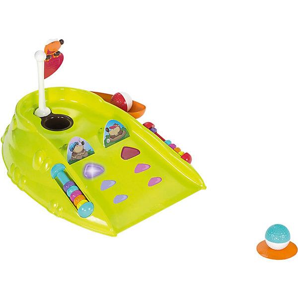 Мини Гольф Клуб, линия Fit&amp;Fat , ChiccoИгровые наборы<br>Мини Гольф Клуб, линия Fit&amp;Fat , Chicco (Чико) – это игра для веселых и активных игр с друзьями на свежем воздухе и дома.<br>Забавный яркий мини-гольф для детей со световыми и звуковыми эффектами развивает точность и координацию движений. Предусматривает два режима игры: тренировка и попадание в цель. В процессе тренировки ребенок учится загонять шар в лунку. Цель игры — три раза попасть в мишень. В режиме «попадание в цель» маленький игрок должен за ограниченное время попасть в мишень, рядом с которой включилась подсветка. В случае успеха звучит торжественная музыка. А также можно посоревноваться с папой или друзьями! Имеется счетчик очков и две заслонки, чтобы играть было еще веселее. Флаг и лунку можно вынуть, чтобы достать мяч.<br><br>Дополнительная информация:<br><br>- В комплекте: поле для мини-гольфа, два мяча, клюшка<br>- Материал: высококачественный пластик<br>- Размер упаковки: 35 х 44,5 х 11 см.<br> <br>Мини Гольф Клуб, линия Fit&amp;Fat , Chicco (Чико) можно купить в нашем интернет-магазине.<br><br>Ширина мм: 474<br>Глубина мм: 352<br>Высота мм: 114<br>Вес г: 1247<br>Возраст от месяцев: 24<br>Возраст до месяцев: 48<br>Пол: Унисекс<br>Возраст: Детский<br>SKU: 3943199