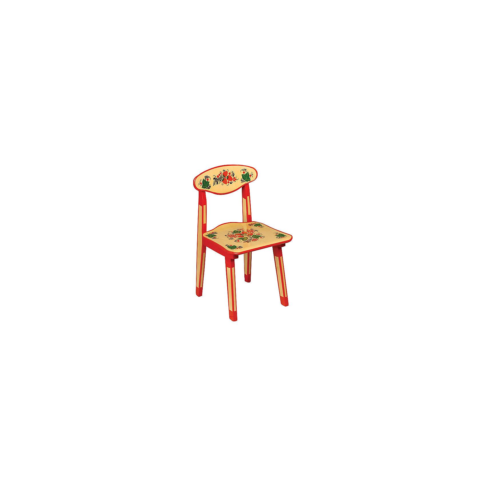 - Стул Хохлома, высота 50 см столы и стулья хохлома стул детский с художественной росписью из массива