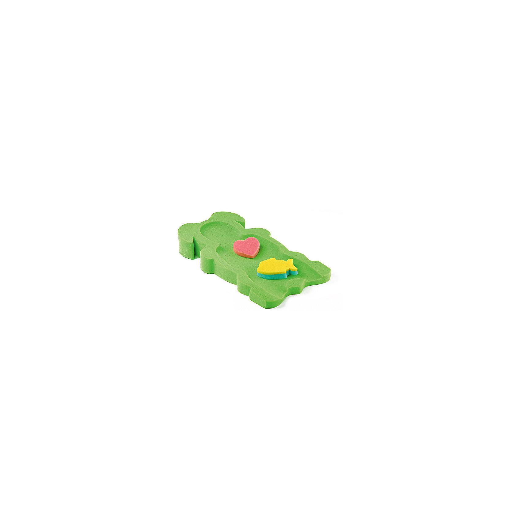 Накладка в ванну Макси, Tega, в ассортиментеМягкая и упругая накладка в ванну Tega Макси предназначена для купания младенцев. Выполнена в форме горки с анатомической выемкой, удобной для малыша. В комплект входят 2 фигурные мочалки-игрушки, которые смогут развеселить ребенка во время купания. Гипоаллергенный материал абсолютно безвреден для крохи. Идеально подходит для новорожденных. Замечательный аксессуар в помощь родителям для купания младенцев!<br><br>Дополнительная информация:<br>- вес: 110 гр.;<br>- габариты: 115х600х300 мм;<br>- категория: 0+;<br>- цвет: зеленый; голубой, розовый, желтый, мятный;<br>- 2 фигурные поролоновые губки в комплекте;<br>- материал: поролон.<br><br>ВНИМАНИЕ! Данный артикул имеется в наличии в разных цветовых исполнениях. К сожалению, заранее выбрать определенный цвет невозможно. При заказе нескольких позиций возможно получение одинаковых.<br><br>Накладку в ванну Макси Tega (Тэга) можно купить в нашем магазине<br><br>Ширина мм: 115<br>Глубина мм: 600<br>Высота мм: 300<br>Вес г: 110<br>Возраст от месяцев: -2147483648<br>Возраст до месяцев: 2147483647<br>Пол: Унисекс<br>Возраст: Детский<br>SKU: 3946071