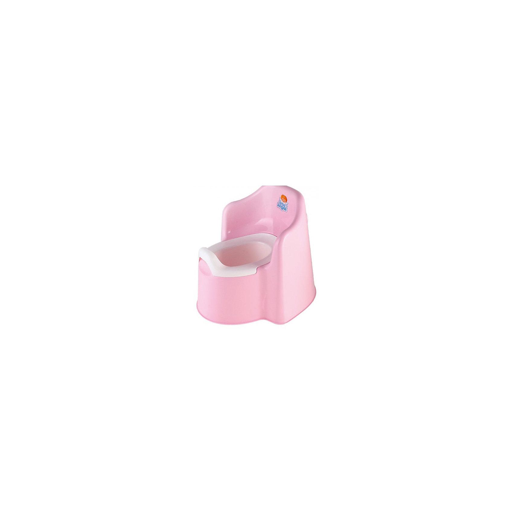 Горшок Little king, Little Angel, розовыйГоршок Little king, Little Angel, розовый изготовлен отечественным производителем  из высококачественного экологически безопасного и прочного пластика. Горшок Little king, Little Angel, розовый выполнен в форме сидения-трона. Горшок состоит из двух частей: корпуса и съемной внутренней части, что обеспечивает удобство в уходе за ним. У горшков данной серии имеется завышенная задняя спинка и боковые бортики, что делает его подходящим даже для тех детей, которые только учатся сидеть. Горшок отличается высокой устойчивостью, что защищает его от опрокидывания. Он достаточно прост в уходе ? легко моется водой.<br><br>Дополнительная информация:<br><br>- Предназначение: для дома<br>- Цвет: розовый<br>- Пол: для девочки<br>- Материал: пластик<br>- Размер (Д*Ш*В): 36,5*34*31 см<br>- Вес: 809 г<br>- Особенности ухода: разрешается мыть<br><br>Подробнее:<br><br>• Для детей в возрасте: от 0 лет и до 3 лет<br>• Страна производитель: Россия<br>• Торговый бренд: Little Angel<br><br>Горшок Little king, Little Angel, розовый можно купить в нашем интернет-магазине.<br><br>Ширина мм: 350<br>Глубина мм: 365<br>Высота мм: 310<br>Вес г: 700<br>Возраст от месяцев: -2147483648<br>Возраст до месяцев: 2147483647<br>Пол: Женский<br>Возраст: Детский<br>SKU: 3946078