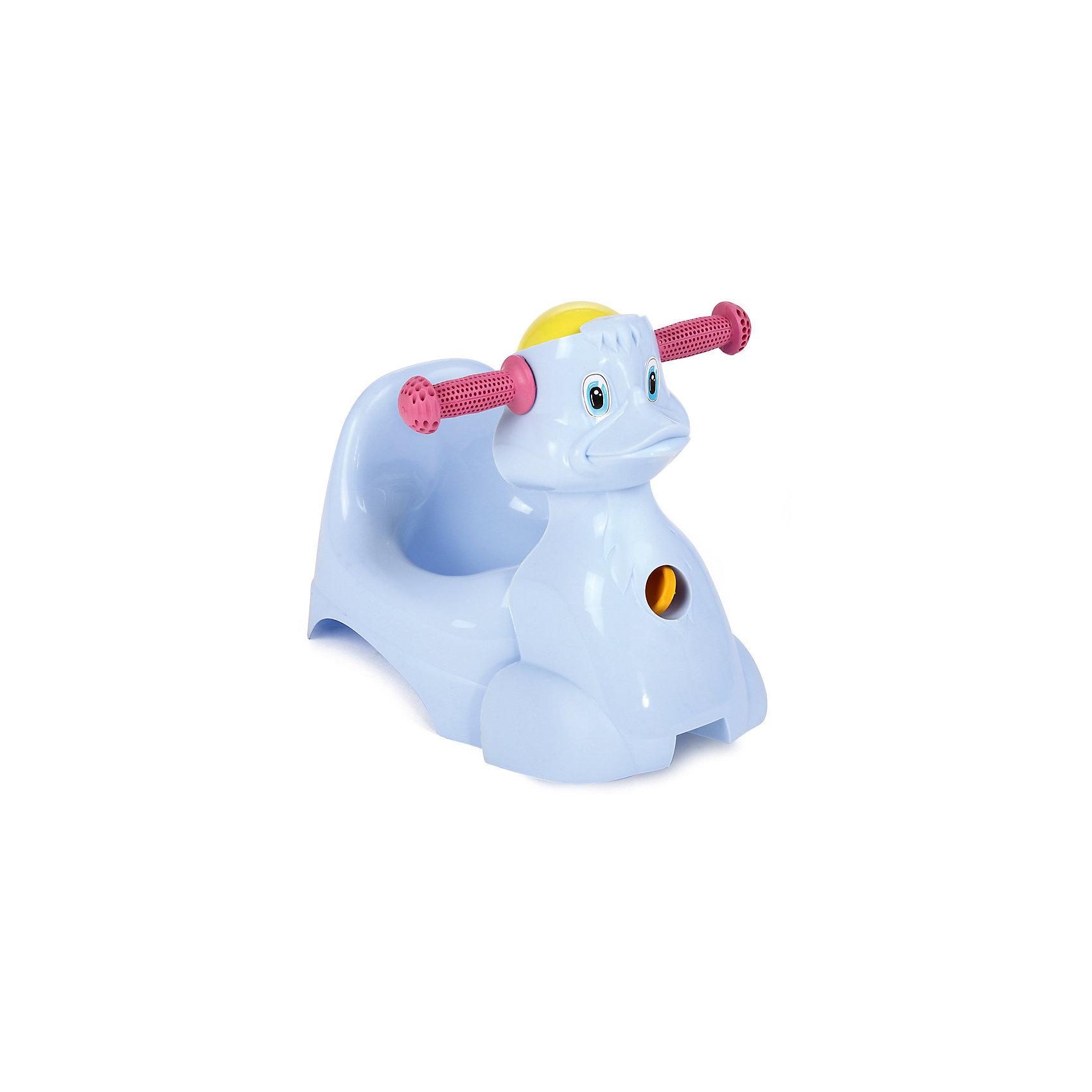 Горшок-игрушка Уточка, Пластик-Центр, голубойЗабавный и симпатичный горшок Уточка с удобными ручками и погремушкой-шариком. Изделие выполнено из высококачественного пластика, легкого, прочного и простого в уходе, и обладает следующими особенностями:<br>- позитивная расцветка;<br>- передняя часть выполнена в форме уточки и легко отцепляется от самой чаши;<br>- удобные прорезиненные ручки;<br>- веселая крутящаяся погремушка-шар;<br>- высокая поддерживающая спинка;<br>- эргономичная форма, плавно повторяющая изгибы тела малыша;<br>- удобная чаша овальной формы;<br>- очень устойчивая модель.<br>Прекрасный горшок для Вашего ребенка!<br><br>Дополнительная информация:<br>- вес: 700 гр.;<br>- габариты: 465х290х330 мм;<br>- цвет: голубой;<br>- материал: пластик;<br>- возрастная категория: для детей старше 6 месяцев<br><br>Горшок-игрушку Уточка можно купить в нашем магазине<br><br>Ширина мм: 465<br>Глубина мм: 290<br>Высота мм: 330<br>Вес г: 700<br>Возраст от месяцев: -2147483648<br>Возраст до месяцев: 2147483647<br>Пол: Мужской<br>Возраст: Детский<br>SKU: 3946081