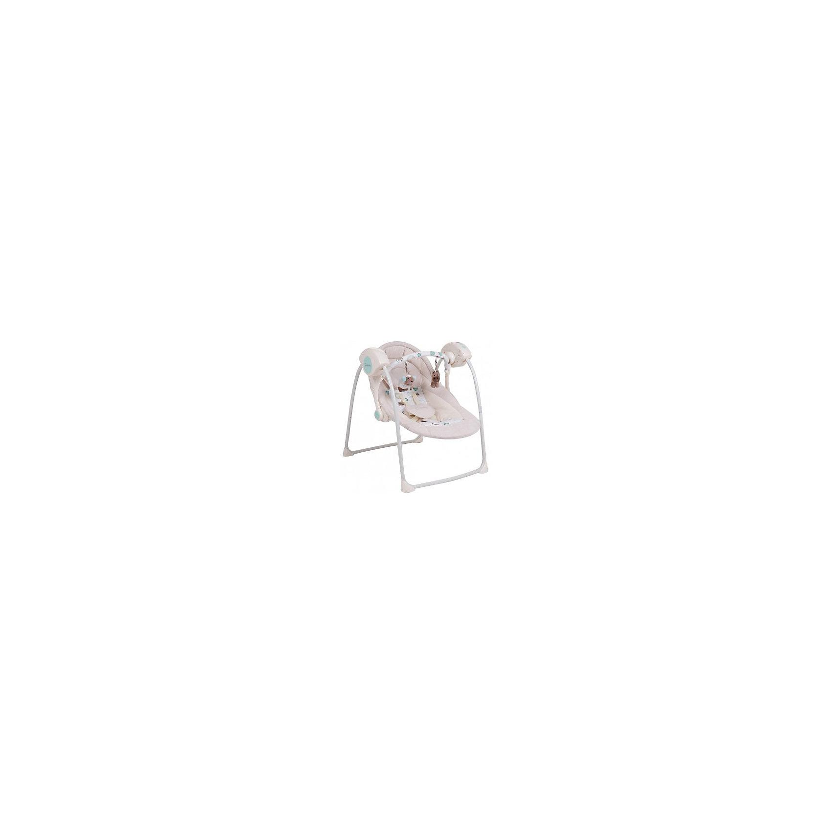 Качели TY-002B, Capella, бежевыйЗамечательные переносные электрокачели от известного бренда Capella для Вашего малыша. Станут незаменимым помощником в первые месяцы: они укачают, успокоят или отвлекут ребенка, оставив родителям время для отдыха или домашних дел. Обладают следующими особенностями:<br>- приятный бежевый цвет;<br>- съемная дуга с игрушками;<br>- мягкое комфортное сиденье с подголовником;;<br>- 2 положения наклона спинки;<br>- качественные пятиточечные ремни безопасности с удобной застежкой;<br>- съемный матрас и чехол, допускается машинная стирка;<br>- музыкальный блок с 12 убаюкивающими мелодиями;<br>- регулируемая громкость;<br>- 5 скоростей качания;<br>- тихий двигатель;<br>- прочный металлический каркас с резиновыми накладками, предотвращающими скольжение;<br>- качели легко и компактно складываются для хранения или транспортировки;<br>- таймер на 8/15/30 минут.<br>Отличная вещь для ребенка и молодых родителей!<br><br>Дополнительная информация:<br>- вес: 5000 гр.;<br>- габариты: 700х600х720 мм;<br>- цвет: бежевый;<br>- работают от батареек;<br>- для детей весом от 3 до 9 кг.<br><br>Качели Capella (Капелла) можно купить в нашем магазине<br><br>Ширина мм: 600<br>Глубина мм: 440<br>Высота мм: 150<br>Вес г: 5000<br>Возраст от месяцев: 0<br>Возраст до месяцев: 6<br>Пол: Унисекс<br>Возраст: Детский<br>SKU: 3946085
