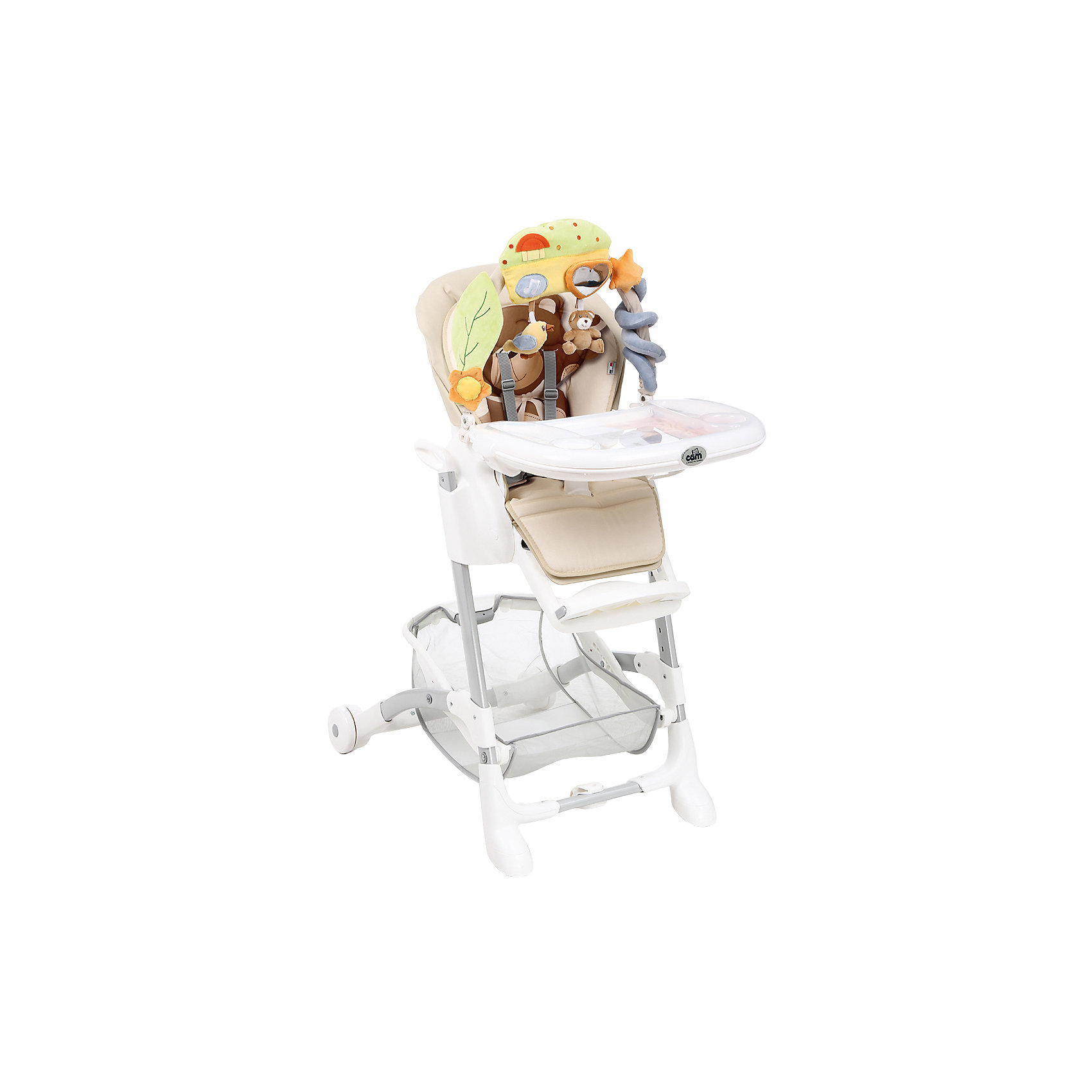 Стульчик для кормления Istante, CAM, бежевый с медвежонкомСтульчики для кормления<br>Стульчик для кормления Istante, CAM, бежевый с медвежонком обеспечивает удобство при кормлении.<br>Очень компактный и легкий стул создает максимальный комфорт для ребенка. Он регулируется: наклон спинки (4 режима), положение и высота опоры для ног (3 режима), регулировка высоты стула (7 режимов). Поднос можно снять, он также регулируется в 4 режимах. Кроме того, у стульчика чехол из искусственной кожи, который можно снять и легко помыть. Два колеса спереди обеспечивают удобное перемещение, но не скользят от движений ребенка. Для безопасности ребенка 5-точечный ремень безопасности. Есть отделение, в котором можно хранить продукты. Также есть крепление для игрушек, которым можно занять малыша, пока готовится обед. Оно легко «откидывается» назад, когда пришло время кушать. <br><br>Дополнительная информация:<br><br>- размер в открытом виде: 62х84х109 см<br>- размер в сложенном виде: 56х35х99.5см<br>- возрастная группа: от 0 месяцев<br>- цвет: бежевый<br>- в комплекте: 2 подноса<br><br>Стульчик для кормления Istante, CAM, бежевый с медвежонком бежевый можно купить в нашем интернет магазине.<br><br>Ширина мм: 587<br>Глубина мм: 272<br>Высота мм: 970<br>Вес г: 12500<br>Возраст от месяцев: 0<br>Возраст до месяцев: 36<br>Пол: Унисекс<br>Возраст: Детский<br>SKU: 3946127
