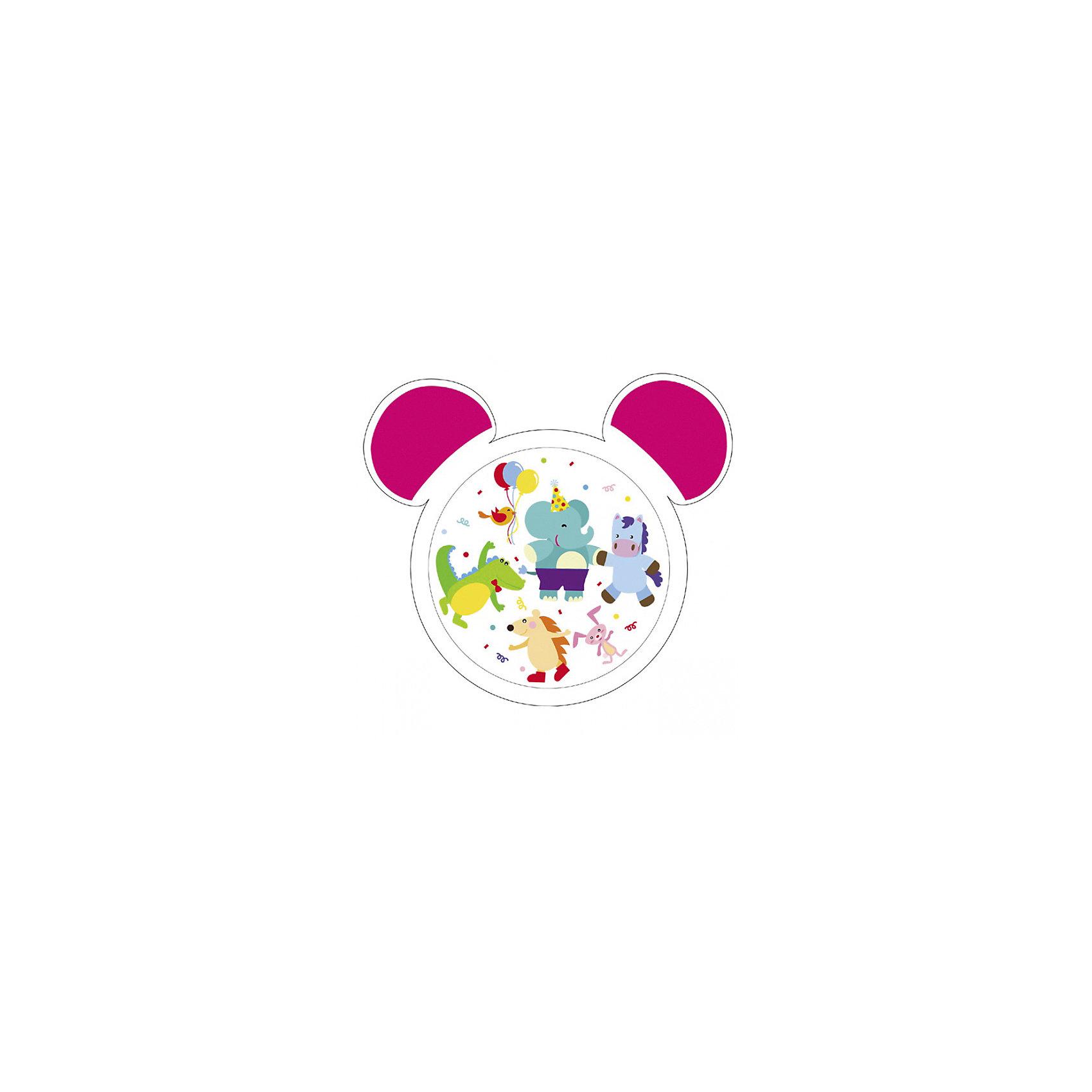 Тарелка с ушами, 270 мл., Canpol Babies, белый/розовый