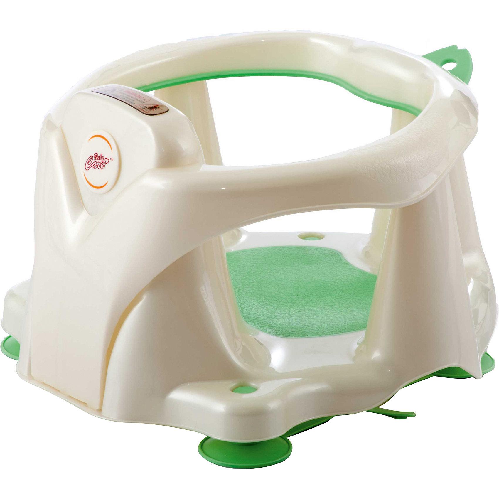 Стульчик-сиденье в ванну, Baby Care, зелёный