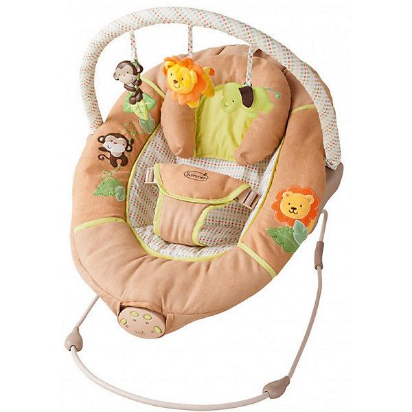 Люлька SWINGIN SAFARI, Summer InfantДетские шезлонги<br>Люлька SWINGIN SAFARI, Summer Infant (Саммер Инфант) <br><br><br>Характеристики: <br><br>• Удобное и широкое сиденье <br>• Компактно складывается <br>• Есть колыбельная <br>• Автоматически отключается через 15 минут <br>• Нужны 3 батарейки <br>• Для детей весом 9-11 кг.<br>• 3 мелодии<br>• 3 уровня громкости <br>• 1 режим укачивание (через 20 минут отключается автоматически)<br><br><br>Люлька SWINGIN SAFARI отлично подойдет для вашего малыша. Она легко собирается и разбирается. Есть тихая спокойная мелодия, которая поможет вашему малышу быстро заснуть. Спальное место оборудовано специальной поддерживающей подушкой для головы. Нейтральная текстильная расцветка отлично подойдет для любой детской комнатки. Малышу в этой люльке будет очень комфортно и уютно отдыхать. А для родителей люлька станет незаменимой помощницей. <br><br>Люльку SWINGIN SAFARI, Summer Infant (Саммер Инфант) вы можете приобрести в нашем интернет-магазине<br><br>Ширина мм: 700<br>Глубина мм: 520<br>Высота мм: 450<br>Вес г: 2800<br>Возраст от месяцев: 0<br>Возраст до месяцев: 12<br>Пол: Унисекс<br>Возраст: Детский<br>SKU: 3950361