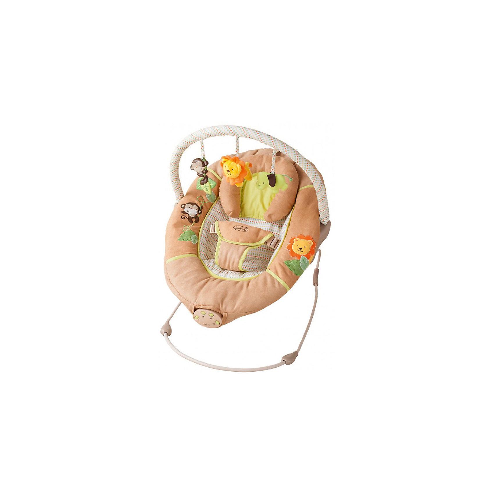 Люлька SWINGIN SAFARI, Summer InfantКачели электронные<br>Люлька SWINGIN SAFARI, Summer Infant (Саммер Инфант) <br><br><br>Характеристики: <br><br>• Удобное и широкое сиденье <br>• Компактно складывается <br>• Есть колыбельная <br>• Автоматически отключается через 15 минут <br>• Нужны 3 батарейки <br>• Для детей весом 9-11 кг. <br><br>Люлька SWINGIN SAFARI отлично подойдет для вашего малыша. Она легко собирается и разбирается. Есть тихая спокойная мелодия, которая поможет вашему малышу быстро заснуть. Спальное место оборудовано специальной поддерживающей подушкой для головы. Нейтральная текстильная расцветка отлично подойдет для любой детской комнатки. Малышу в этой люльке будет очень комфортно и уютно отдыхать. А для родителей люлька станет незаменимой помощницей. <br><br>Люльку SWINGIN SAFARI, Summer Infant (Саммер Инфант) вы можете приобрести в нашем интернет-магазине<br><br>Ширина мм: 700<br>Глубина мм: 520<br>Высота мм: 450<br>Вес г: 2800<br>Возраст от месяцев: 0<br>Возраст до месяцев: 12<br>Пол: Унисекс<br>Возраст: Детский<br>SKU: 3950361