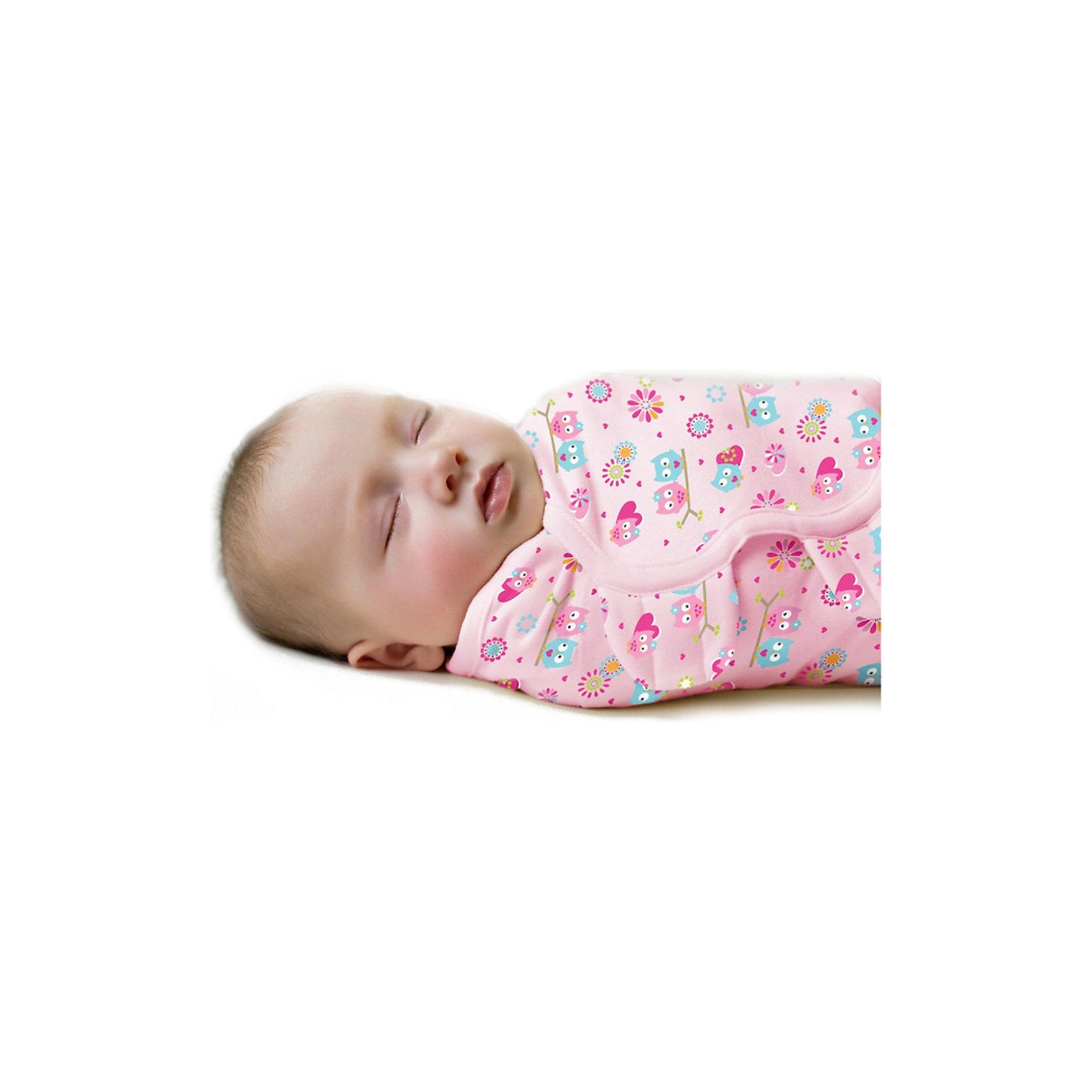 Конверт для пеленания на липучке SWADDLEME, р-р S/M, 3-6 кг., розовый влюбленные совыОкутайте малыша нежностью, которую дает конверт SwaddleMe. Он сделан из хлопка с оригинальной регулируемой системой крепления на липучке. Пеленание успокаивает новорожденных, путем воссоздания знакомых ему чувств, как в утробе мамы.<br>Мягко облегая, конверт не ограничивает движение ребенка, и в тоже время помогает снизить рефлекс внезапного вздрагивания, благодаря этому сон малыша и родителей будет более крепким.<br>Регулируемые крылья для закрытия конверта сделаны таким образом, что даже самый активный ребенок не сможет распеленаться во время сна. Конверт можно открыть в области ног малыша для легкой смены подгузников - нет необходимости разворачивать детские ручки.<br><br>Дополнительная информация:<br><br>- Размер: 50 см (размер S/M).<br>- Материал: хлопок и нити эластана.<br>- Подходит для малышей среднего размера от 3 до 6 кг.<br>- Цвет: розовый, принт (совы).<br><br>Конверт для пеленания на липучке SWADDLEME, р-р S/M, 3-6 кг., розовый влюбленные совы можно купить в нашем магазине.<br><br>Ширина мм: 30<br>Глубина мм: 150<br>Высота мм: 235<br>Вес г: 1600<br>Возраст от месяцев: 0<br>Возраст до месяцев: 3<br>Пол: Женский<br>Возраст: Детский<br>SKU: 3950374