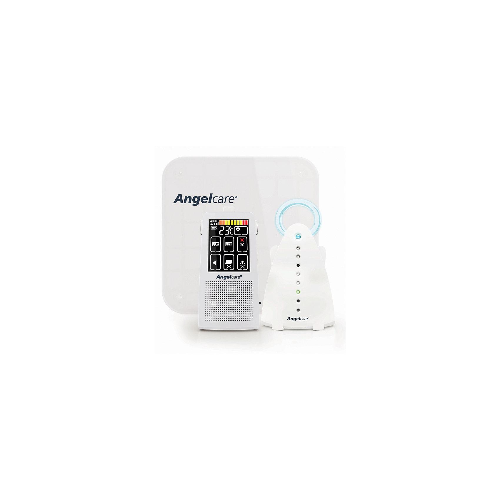 Радионяня сенсорная с монитором дыхания AC701, AngelcareДетская бытовая техника<br>Сенсорная радионяня с монитором дыхания AC701 , AngelCare - прекрасный вариант для малышей и их родителей! Все настройки регулируются на сенсорном экране родительского блока в интуитивно-понятном интерфейсе. <br>Специальный датчик Sensor Pad располагается под матрасом и улавливает каждое движение и дыхание малыша. Тревожный сигнал звучит через 20 сек после того, как прибор не уловил ни единого движения ребенка или дыхания крохи.  Датчик безопасен для ребенка, его действие сравнимо с работой пальчиковых батареек. Радионяня позволяет настроить специальный «тикающий» сигнал, воспроизводящий дыхание ребенка. Контролирует и показывает температуру в комнате ребенка на родительском блоке. Оповещает, если температура слишком высокая или низкая. Диапазон температур устанавливается на родительском блоке. <br>Ночник-ангелочек на детском блоке имеет приятное, не раздражающее малыша свечение. Цифровая технология передачи данных исключает помехи, улучшает качество звука. Переносной и перезаряжаемый родительский и детский блоки. Есть клипса для крепления родительского блока на ремне. ECO функция для минимального потребления электроэнергии и излучения.<br><br>Дополнительная информация:<br><br>- Клипса для крепления блока на ремне. <br>- Радиус действия: до 230 м <br>- При полной зарядке, батарея работает до 5 часов.  <br>- Работа детского блока: от сети, от 2 аккумуляторов ААА  (для родительского блока, в комплекте). <br>- Ночник.<br>- Двухсторонняя связь с ребенком.<br>-  Датчик Sensor Pad.<br>- Датчик температуры в детской. <br>- Индикатор выхода за радиус действия.<br>- Индикатор разряда батарейки.<br>- Функция поиска родительского блока. <br>- 3 типа оповещения родителей: звук, свет, вибрация ( возможно совмещения сигналов). <br>- Комплектация: родительский блок, детский блок, сетевой адаптер, 2 аккумулятора. <br><br>Сенсорную радионяню с монитором дыхания AC701 , AngelCare можно купить в нашем м