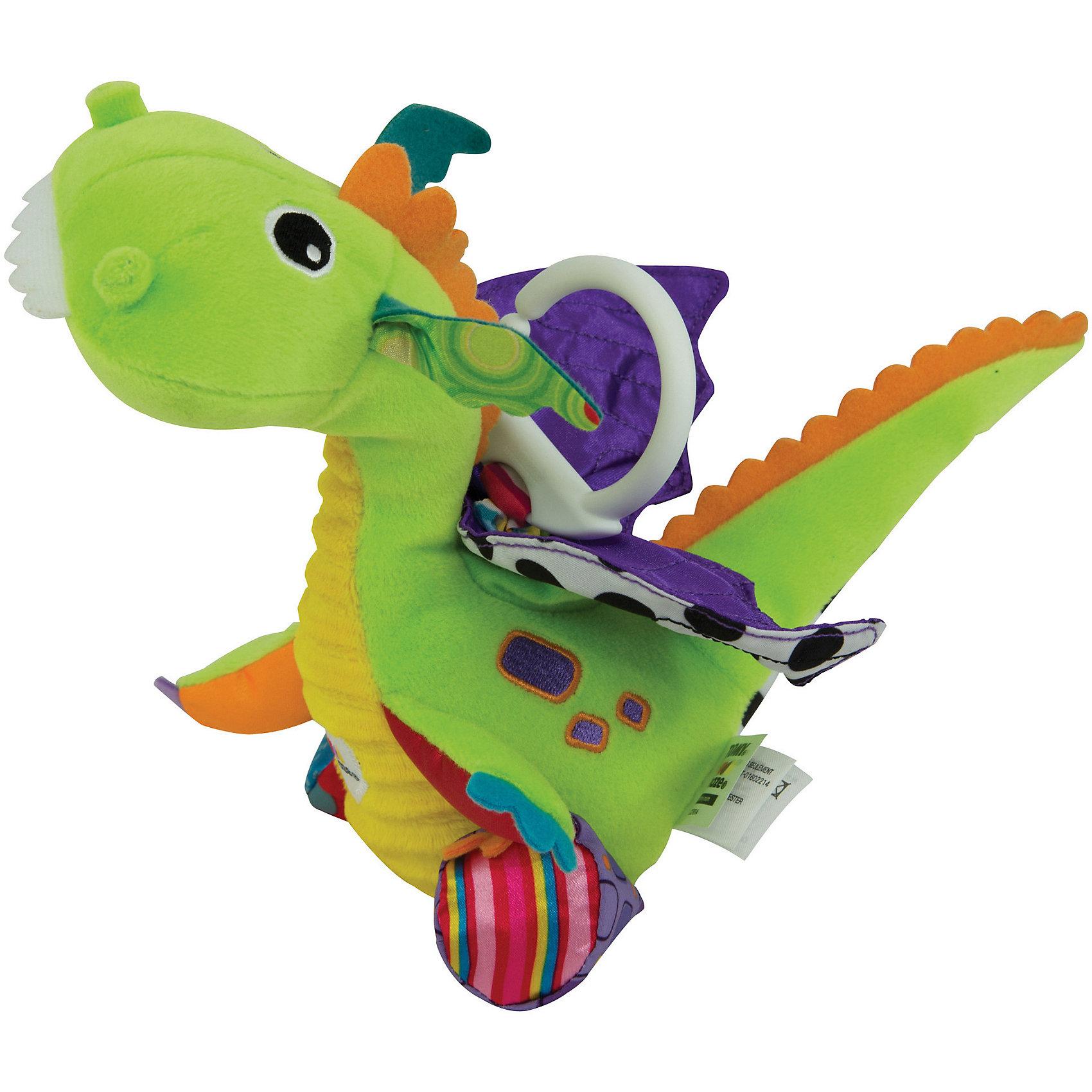 Подвеска Весёлый дракончик, LamazeПодвески<br>Подвеска Весёлый дракончик, Lamaze - забавная развивающая игрушка, которая обязательно привлечет внимание Вашего малыша. Симпатичный красочный дракончик выполнен в ярких разноцветных тонах, очень мягкий и приятный на ощупь. Материалы 6 разных фактур, контрастные цвета и шуршащие детали стимулируют развитие тактильных и сенсорных навыков ребенка. Имеется кольцо с мягкой пружинкой для крепления к кроватке или коляске. Потяните игрушку вниз за разноцветную пружинку и дракончик будет хлопать блестящими крылышками. Игрушка способствует развитию воображения и познавательной активности, учит причинно-следственным связям, тренирует мелкую моторику.<br><br>Дополнительная информация:<br><br>- Материал: текстиль.<br>- Размер игрушки: 20 x 12 x 28 см.<br>- Вес: 118 гр.<br><br>Подвеску Весёлый дракончик, Lamaze, можно купить в нашем интернет-магазине.<br><br>Ширина мм: 299<br>Глубина мм: 192<br>Высота мм: 119<br>Вес г: 137<br>Возраст от месяцев: 3<br>Возраст до месяцев: 18<br>Пол: Унисекс<br>Возраст: Детский<br>SKU: 3965935
