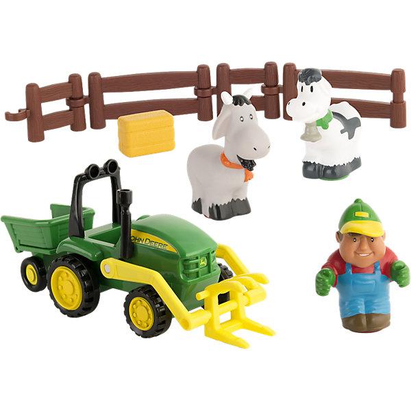 Моя первая ферма - набор с погрузчиком, TOMYМашинки<br><br>Ширина мм: 335; Глубина мм: 236; Высота мм: 147; Вес г: 646; Возраст от месяцев: 12; Возраст до месяцев: 48; Пол: Унисекс; Возраст: Детский; SKU: 3965951;