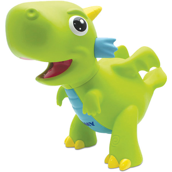 Игрушка  для ванной Водный дракон, TOMYДинамические игрушки<br>Игрушка для ванны Водный дракон, Tomy (Томи) - забавная яркая игрушка, которая развлечет малыша во время купания. Симпатичный зеленый дракончик выпускает яркое пламя как настоящий сказочный дракон. Погрузите игрушку в воду, а затем нажмите ей на животик - из пасти дракончика будут вырываться струи воды с яркой красной подсветкой, что вызовет восторг у Вашего ребенка.<br><br>Дополнительная информация:<br><br>- Материал: пластик.<br>- Требуются батарейки: 3 х LR44 (входят в комплект).<br>- Размер игрушки: 14,5 x 8,2 x 12,7 см. <br>- Вес: 132 гр.<br><br> Игрушку для ванны Водный дракон, Tomy (Томи), можно купить в нашем интернет-магазине.<br>Ширина мм: 228; Глубина мм: 192; Высота мм: 126; Вес г: 237; Возраст от месяцев: 18; Возраст до месяцев: 36; Пол: Унисекс; Возраст: Детский; SKU: 3965959;