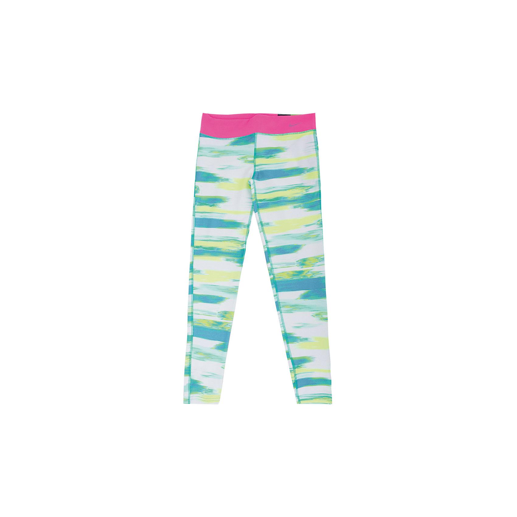Леггинсы для девочки NIKE YA LEG AOP TGHT PANT YTH NIKEЛеггинсы<br>Брюки для девочки NIKE YA LEG AOP TGHT PANT YTH  от известного бренда NIKE (Найк)обязательно понравятся вашему ребенку. Брюки оригинальной контрастной расцветки прекрасно облегают фигуру, идеально подходят для занятий спортом и активного отдыха. Выполнены из высококачественного материала, приятны к телу, не сковывают движения.<br><br>Дополнительная информация:<br><br>- Крой брючин: облегающий.<br>- Цвет: розовый, желтый, голубой.<br>- Эластичный пояс<br>- Декоративные элементы: принт .<br><br>Состав:<br>полиэстер 88%, эластан 12%<br><br>Брюки для девочки NIKE YA LEG AOP TGHT PANT YTH NIKE (Найк) можно купить в нашем магазине.<br><br>Ширина мм: 215<br>Глубина мм: 88<br>Высота мм: 191<br>Вес г: 336<br>Цвет: голубой<br>Возраст от месяцев: 72<br>Возраст до месяцев: 96<br>Пол: Женский<br>Возраст: Детский<br>Размер: 116/128,152/158,140/152,128/140,158/170<br>SKU: 3969523