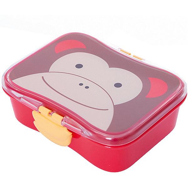 Набор контейнеров для завтрака Обезьяна, Skip HopДетская посуда<br>Характеристики товара:<br><br>• возраст с 6 месяцев;<br>• материал: пластик;<br>• объем 700 мл;<br>• в комплекте: 2 контейнера;<br>• герметичная крышка<br>• забавные зажимы<br>• можно мыть в посудомочечной машине<br>• прекрасно подойдет для рюкзаков Skip Hop Zoo<br>• размер контейнера 17х14х6 см;<br>• страна производитель: Китай.<br><br>Набор контейнеров для завтрака «Обезьяна» Skip Hop позволяет брать с собой вкусную домашнюю еду в школу, детский садик, на прогулку или на пикник. На крышке контейнера изображена улыбающаяся обезьянка. В комплекте 2 контейнера: один основной большой и второй маленький, помещающийся внутри первого. Малыш может брать сразу 2 блюда, не беспокоясь, что они перемешаются. Крышка плотно и герметично закрывается. Контейнеры можно мыть в посудомоечной машине. Изготовлены из качественного нетоксичного пластика и не содержат вредных веществ. <br><br>Набор контейнеров для завтрака «Обезьяна» Skip Hop можно приобрести в нашем интернет-магазине.<br>Ширина мм: 173; Глубина мм: 141; Высота мм: 69; Вес г: 219; Цвет: красный/коричневый; Возраст от месяцев: 1; Возраст до месяцев: 36; Пол: Унисекс; Возраст: Детский; SKU: 3971245;