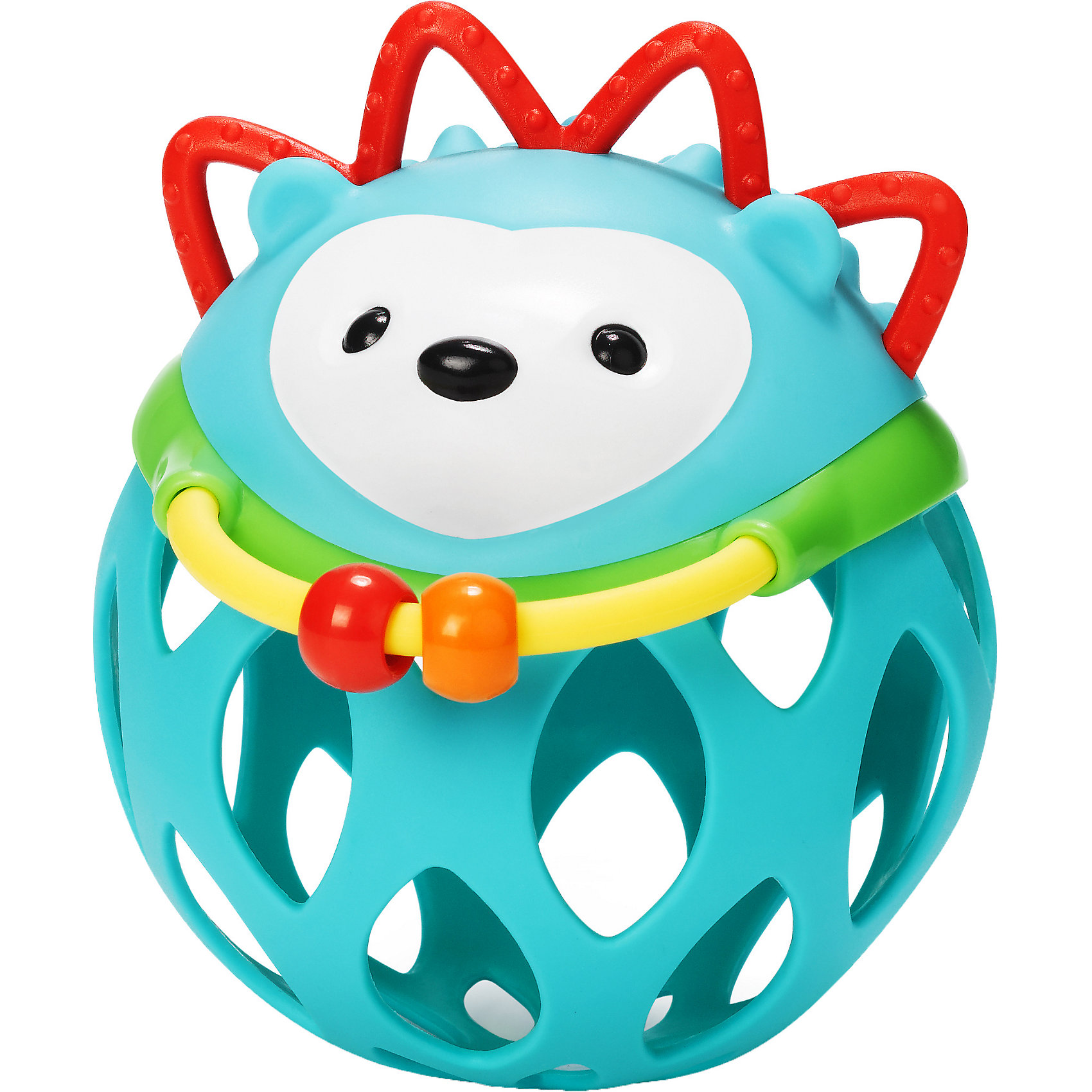 Игрушка-погремушка Шар-ежик, Skip HopИгрушки для малышей<br>SH 303101 Игрушка-погремушка Шар-ежик.Развивающая игрушка в виде ёжика обязательно понравится вашему малышу! Гибкий низ игрушки со специальными отверстиями помогут развить ловкость и моторику ручек. Такую погремушку можно катать, трясти и подбрасывать. Имеет прорезиненные детали для прорезывания зубов. <br>Бренд: SKIP HOP (США)<br>Возрастная группа: 3m+ <br>Категории развития: Хватательный рефлекс <br>Материал: Пластик <br>Пол: Универсальный<br><br>Ширина мм: 181<br>Глубина мм: 144<br>Высота мм: 91<br>Вес г: 127<br>Цвет: mehrfarbig<br>Возраст от месяцев: 1<br>Возраст до месяцев: 36<br>Пол: Унисекс<br>Возраст: Детский<br>SKU: 3971270